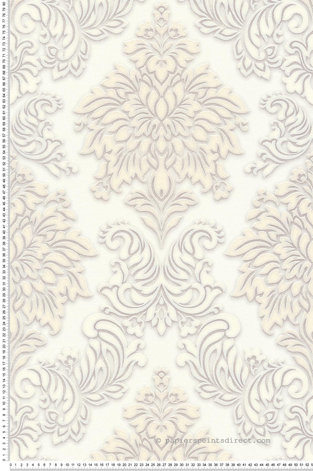 Papier A Peindre Epais papier peint baroque anglais blanc - metropolitan stories d