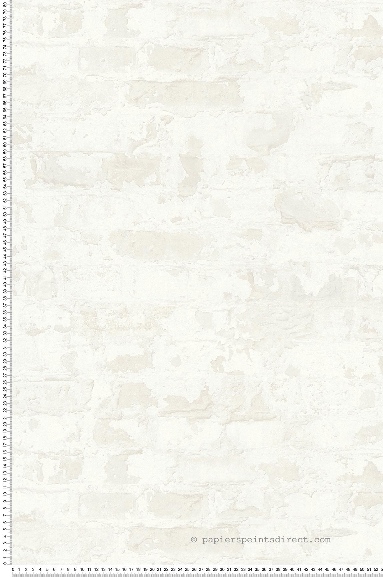 Papier peint Brique usée blanc - Metropolitan Stories d'AS Création   Réf. SP14710