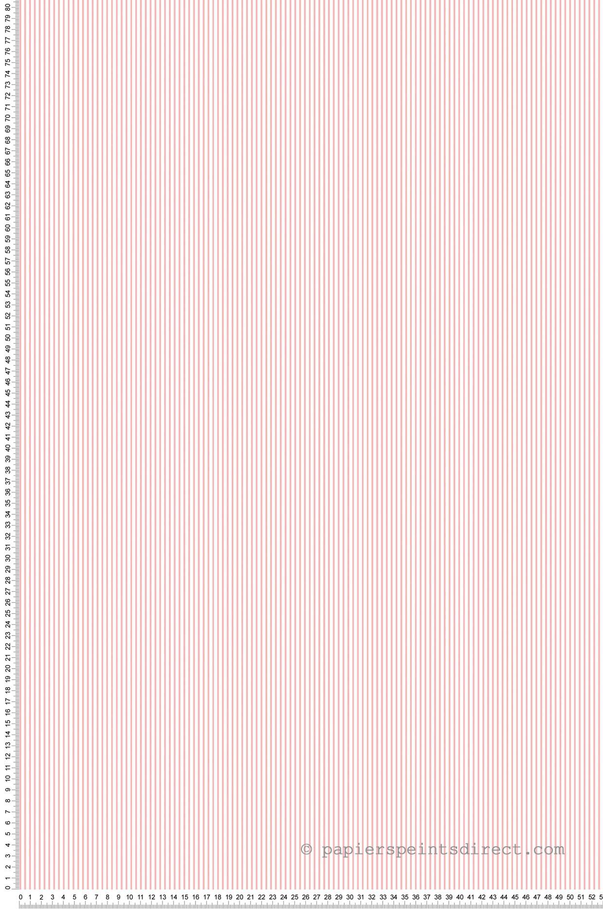 Papier peint Fine Rayure rose - Miniatures de Lutèce | Réf. LTC-G67857