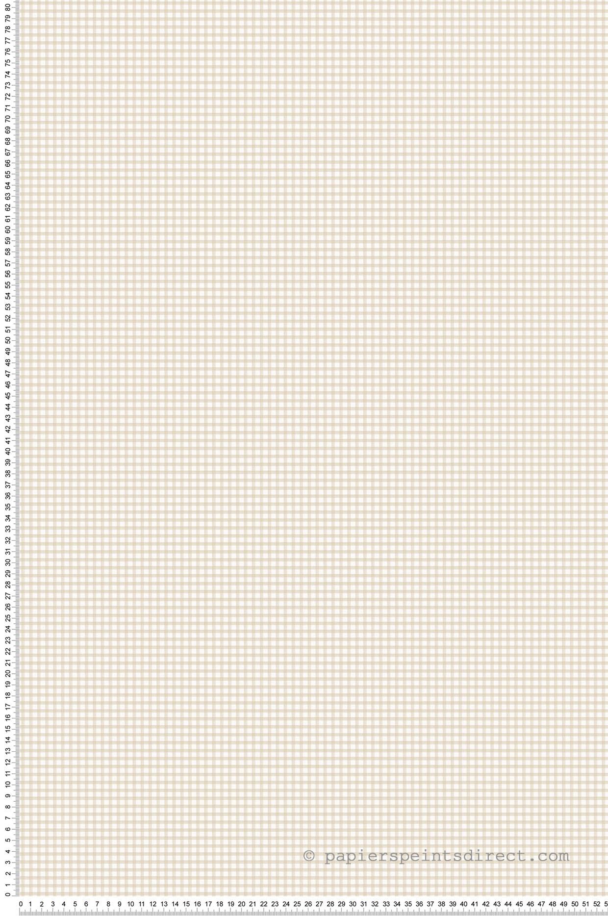 Papier peint motif Vichy beige/blanc - Miniatures de Lutèce | Réf. LTC-G67873