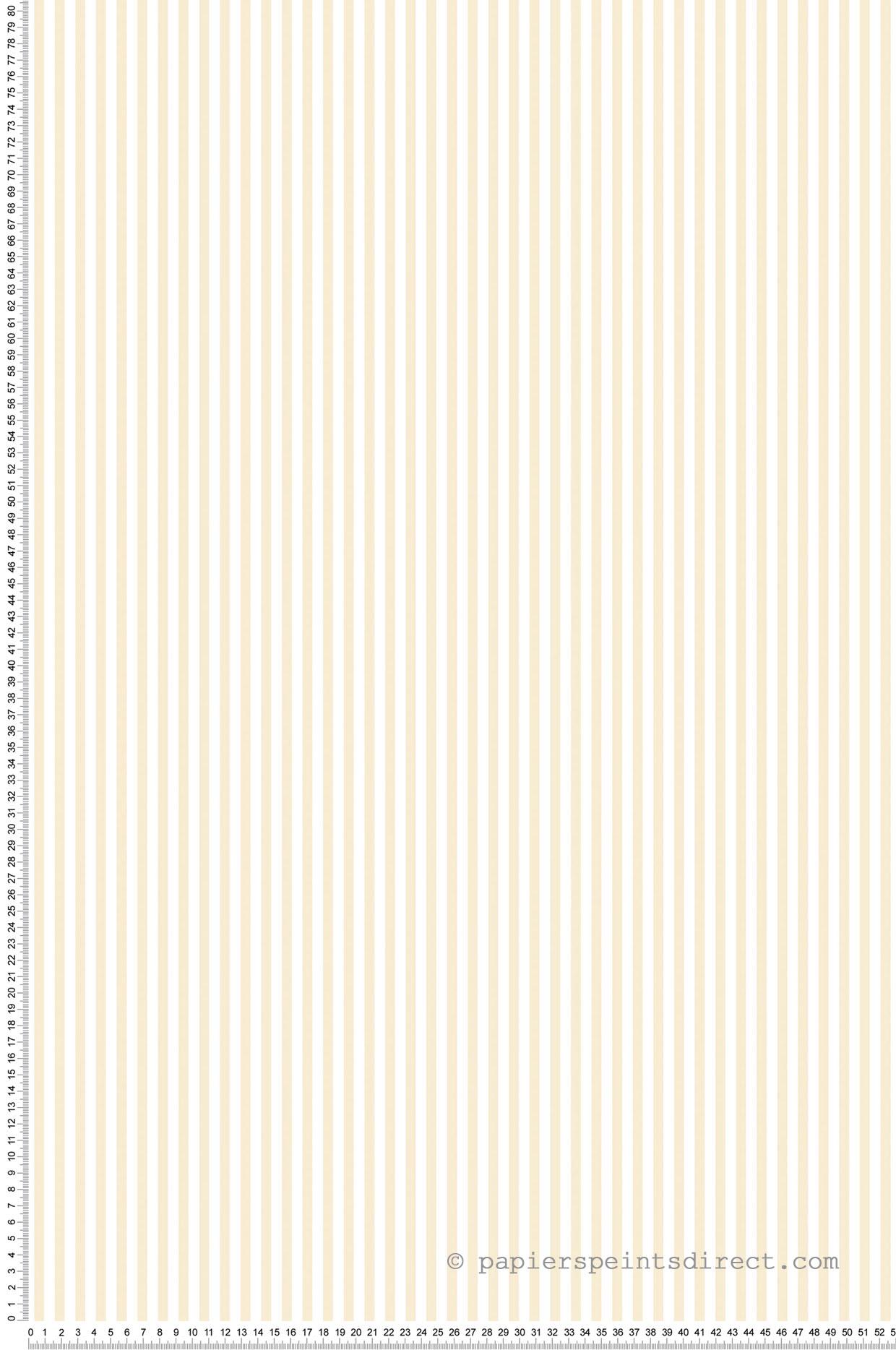Papier peint Rayures bicolores beige et blanc - Miniatures de Lutèce   Réf. LTC-G67909
