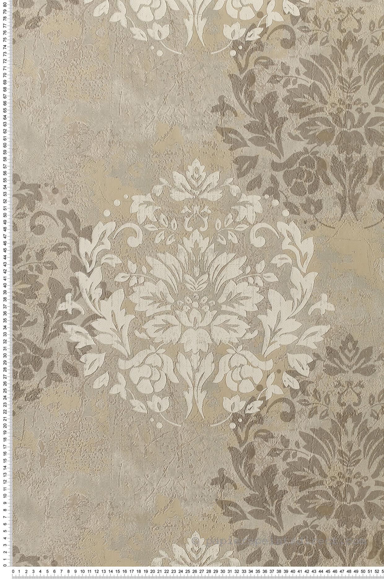 Papier peint Damask Béton gris - Neapolis de Montecolino | Réf. MC-Z44537