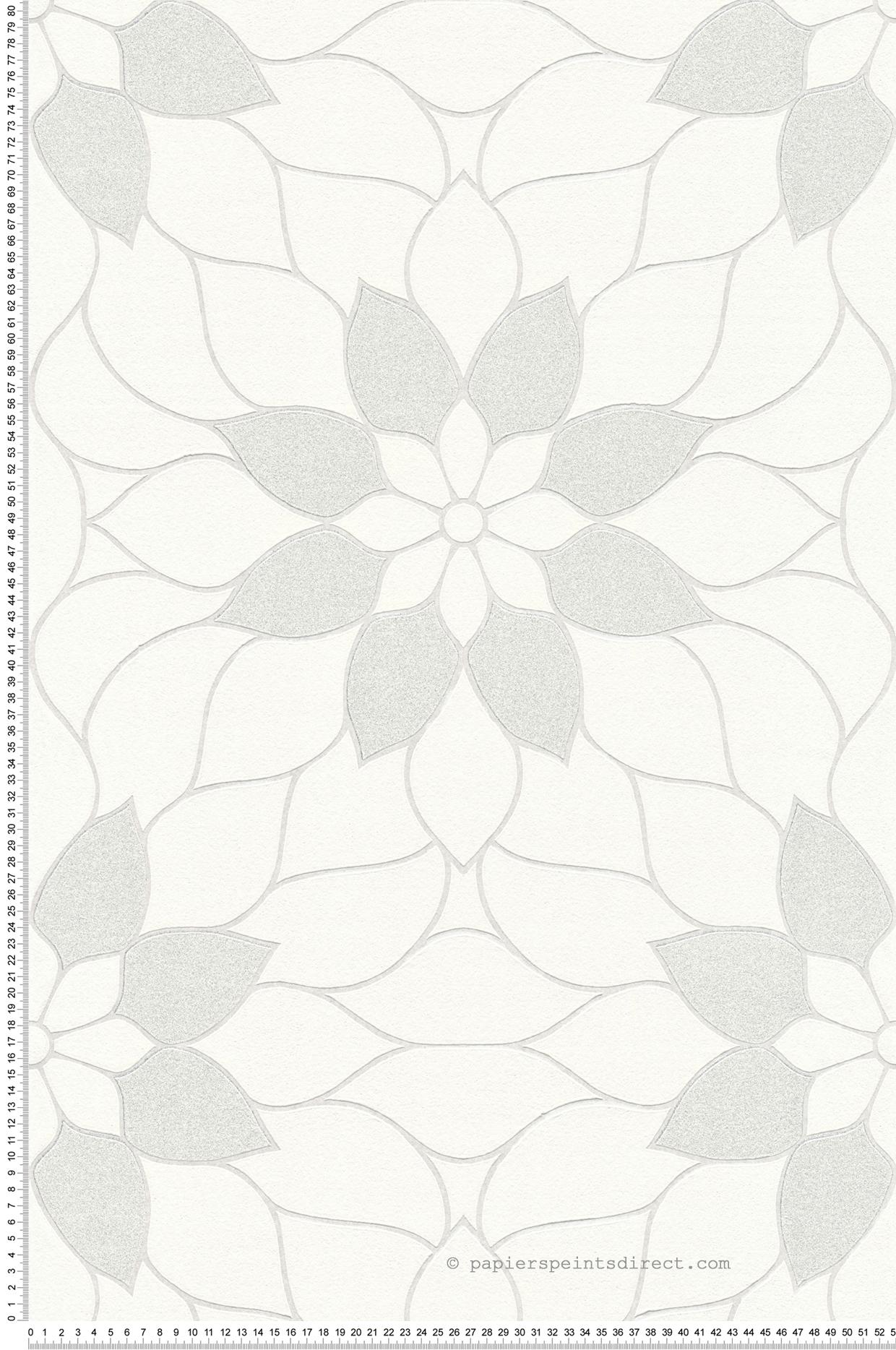 Papier Peint Art Deco Blanc papier peint fleurs art déco blanc - new studio 2.0 d'as