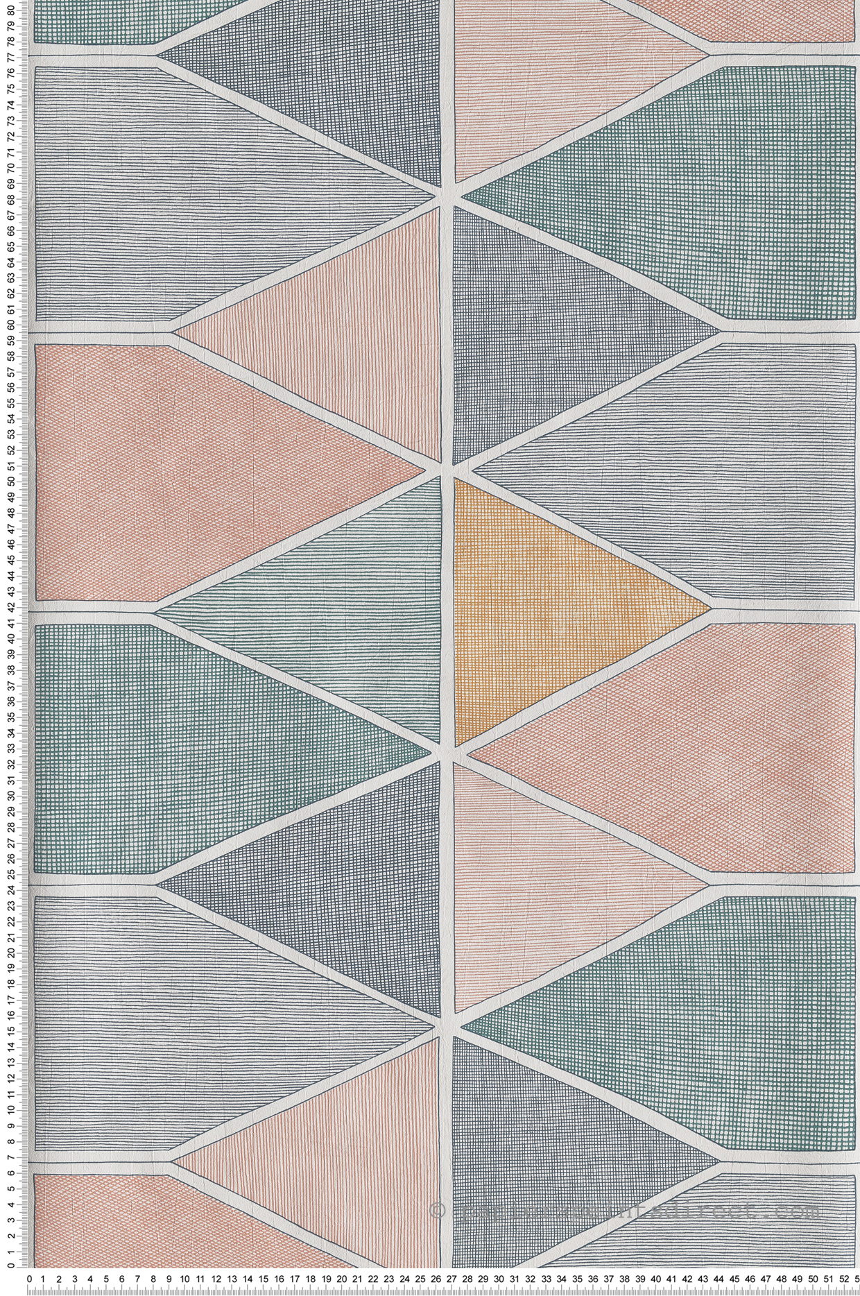 Papier peint graphique Stella Color multicouleurs - Nova de Casadéco   Réf. NOVA84157434