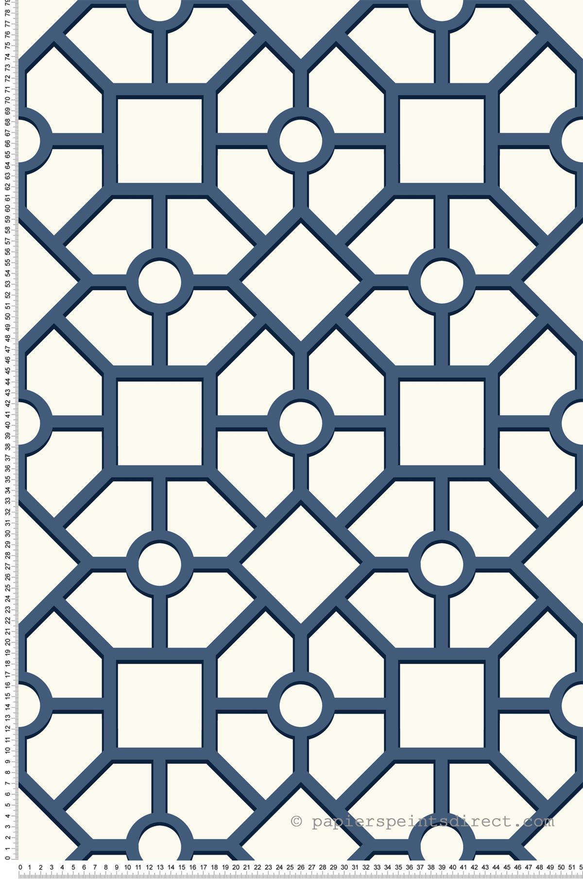 Papier peint Panneau japonais bleu - Outdoors In d'Initiales | Réf. INI-ON1665