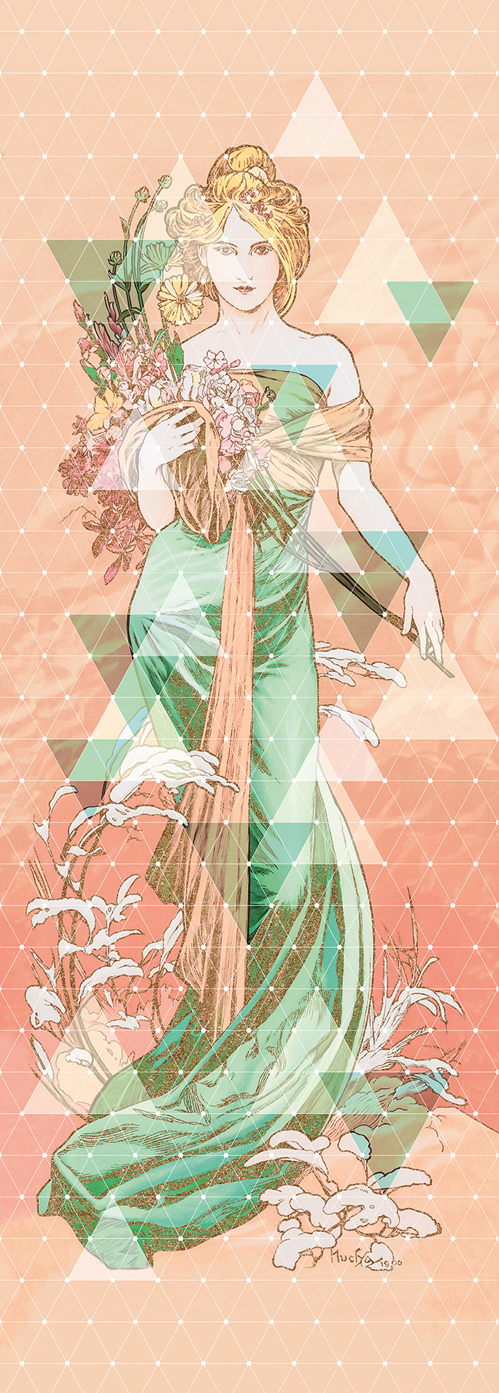 Papier peint panoramique Printemps - Papier peint Komar Heritage