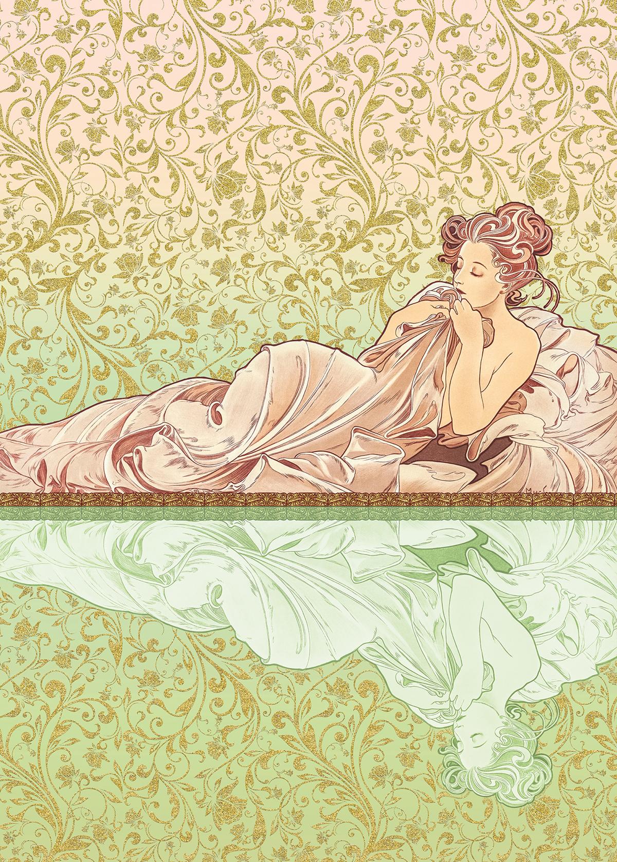 Papier peint panoramique rétro Réflexion - Papier peint Komar Heritage