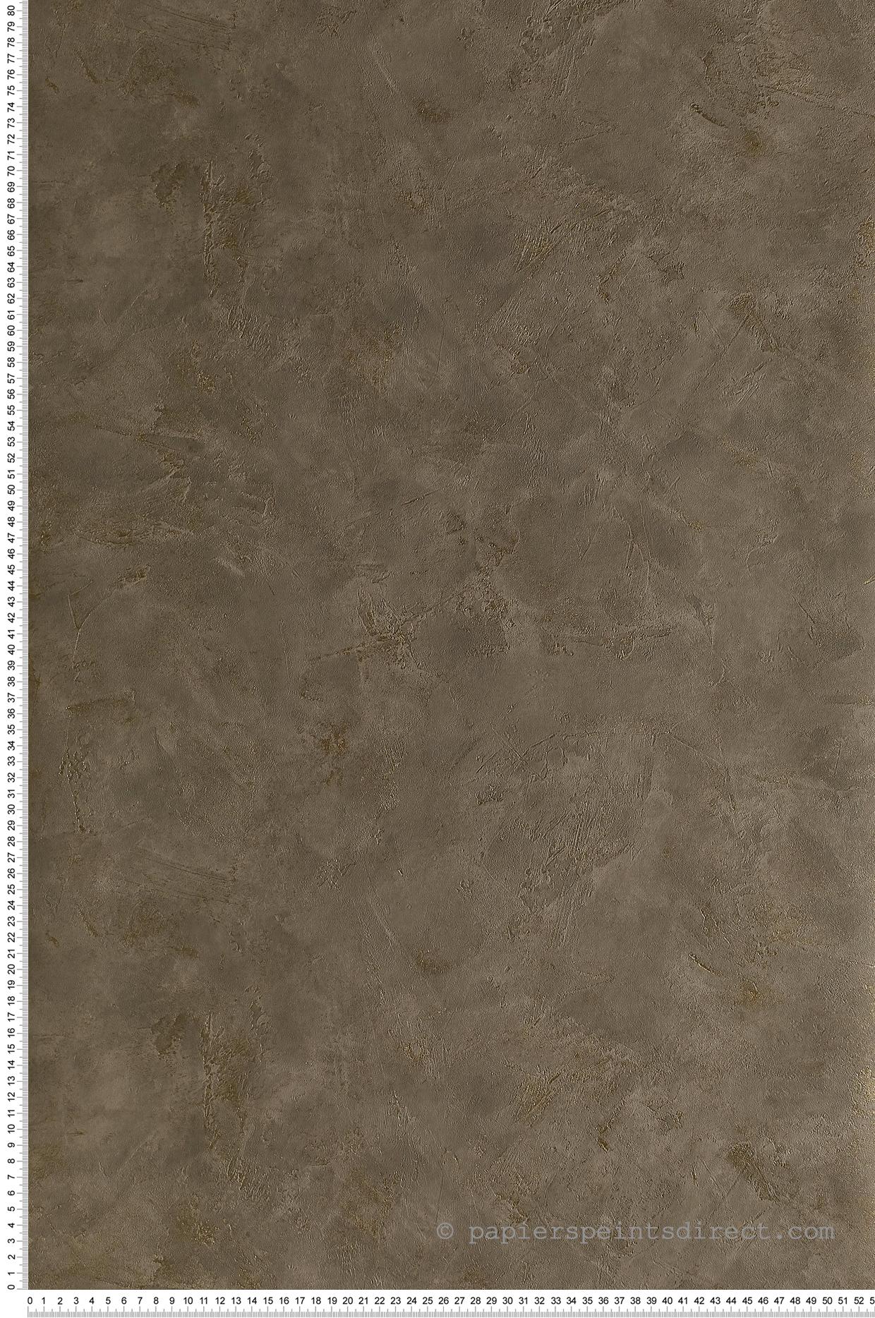 Papier peint Effet béton taupe cuivré - Patine de Casélio | Réf. PAI100222234