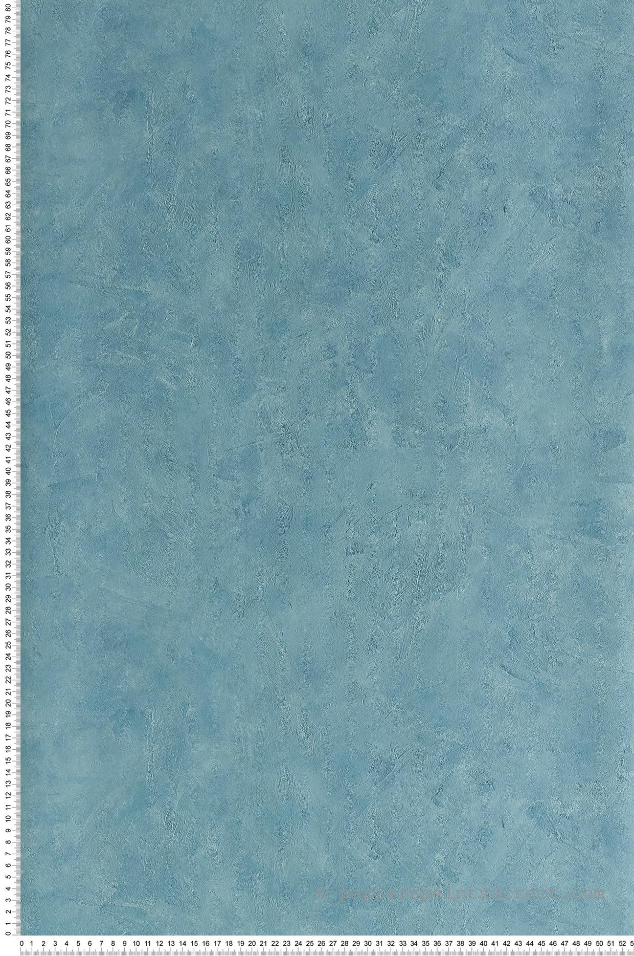 Papier peint Effet béton turquoise - Patine de Casélio   Réf. PAI100226160