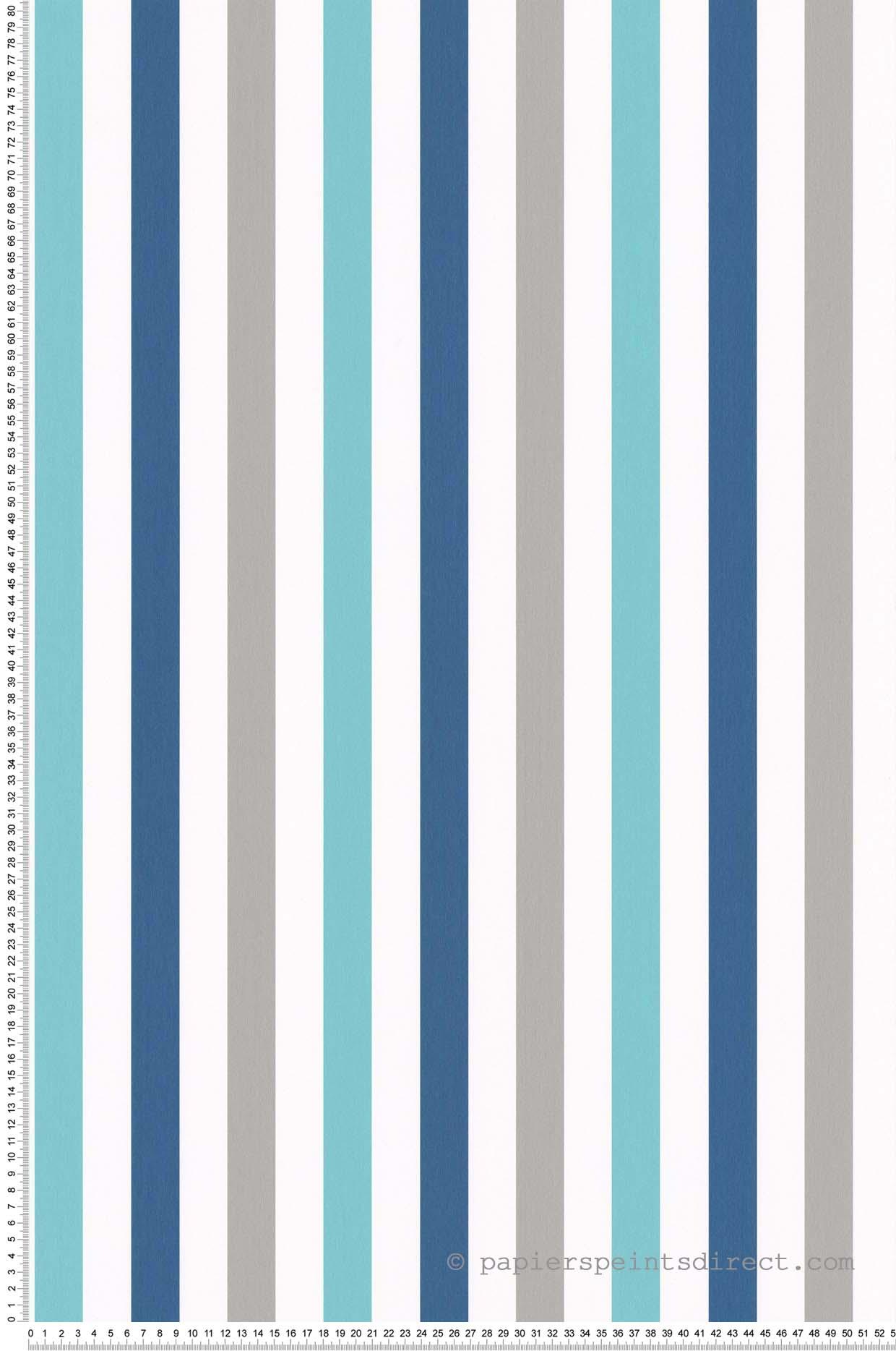 Papier Peint A Rayure Gris Et Blanc papier peint rayures bleu-gris - sélène & gaïa de lutèce