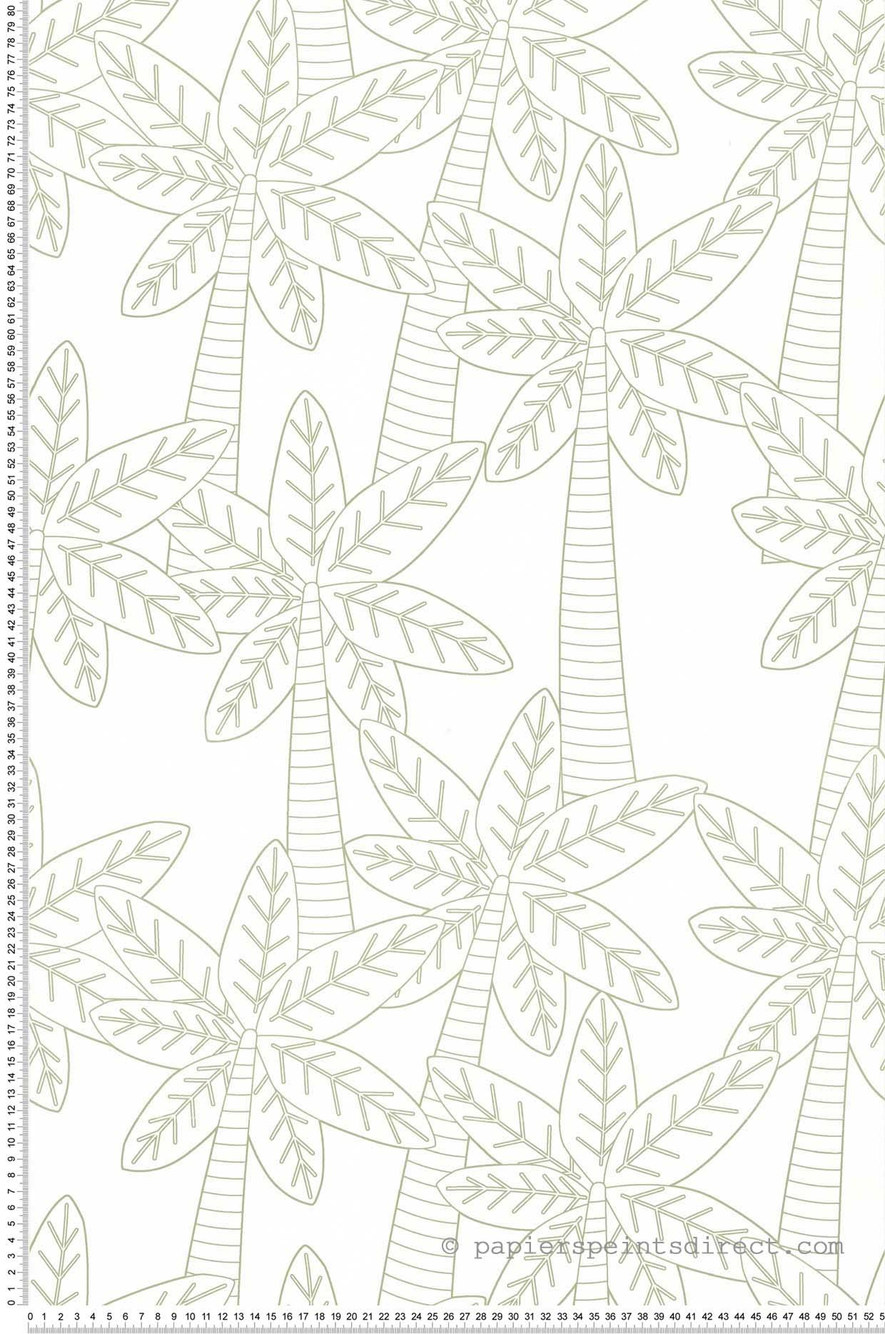 Papier Peint Palmiers kaki - Sélène & Gaïa de Lutèce    Réf. LTC-11160514