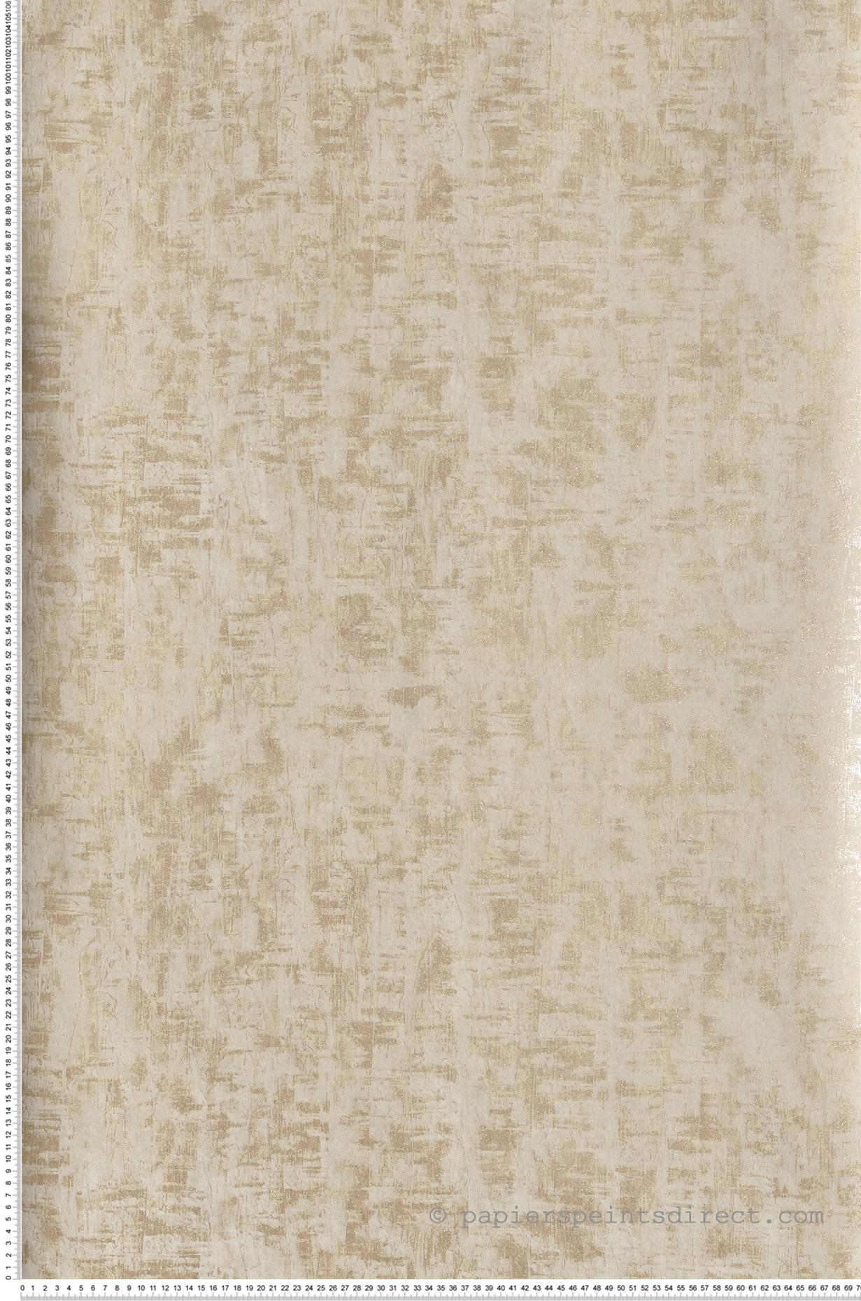 Papier Peint Beige Doré Paillettes Talochées Place Vendôme