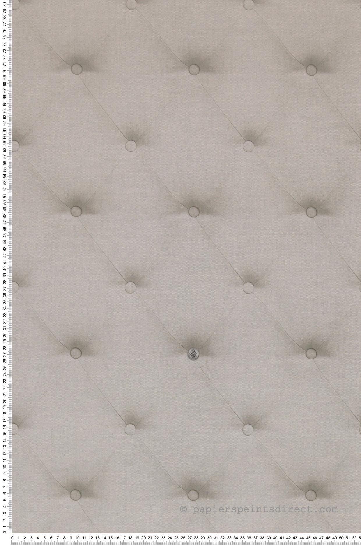 Papier Peint Capitonné Gris capitons beige clair - collection rivièra maison de montécolino