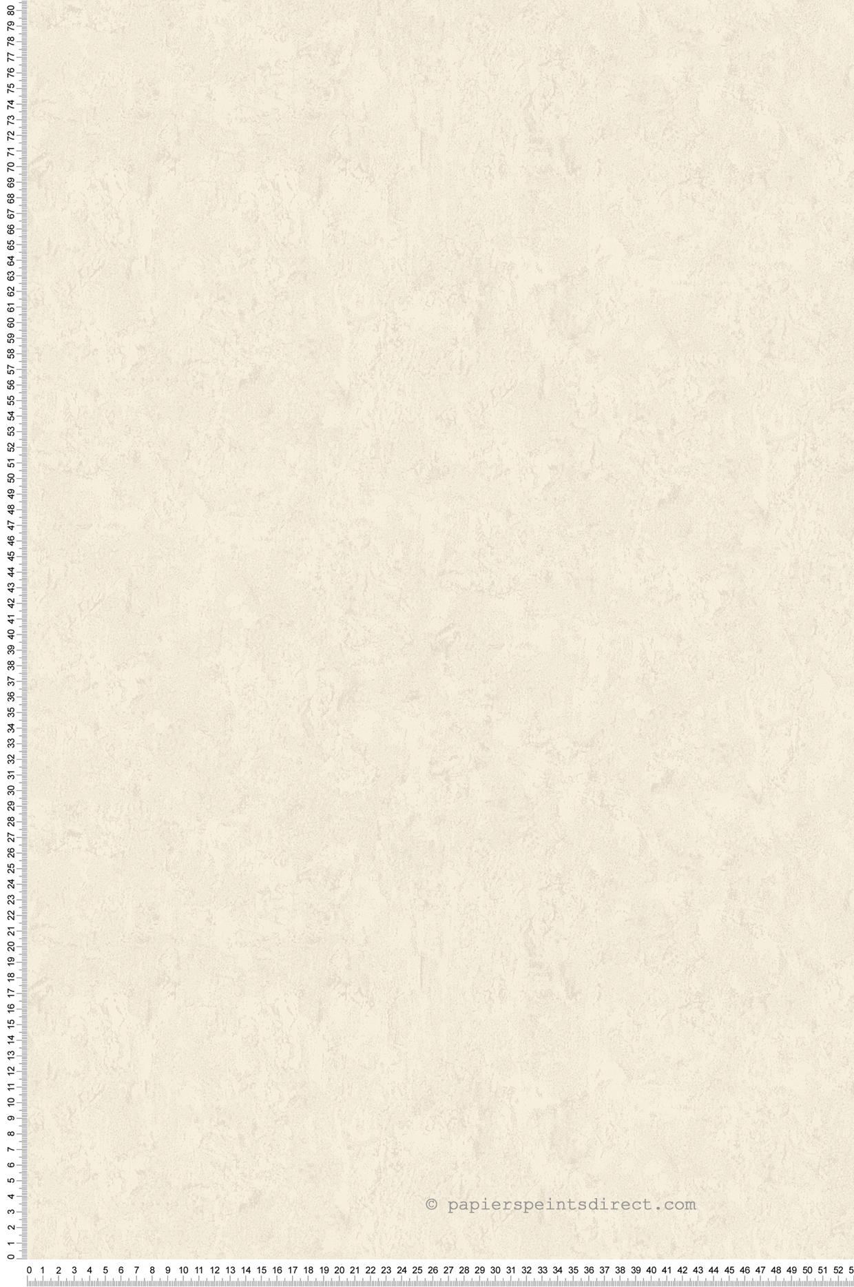 Papier Peint Effet Crepi papier peint uni crépi satiné blanc ivoire - romantico d'as