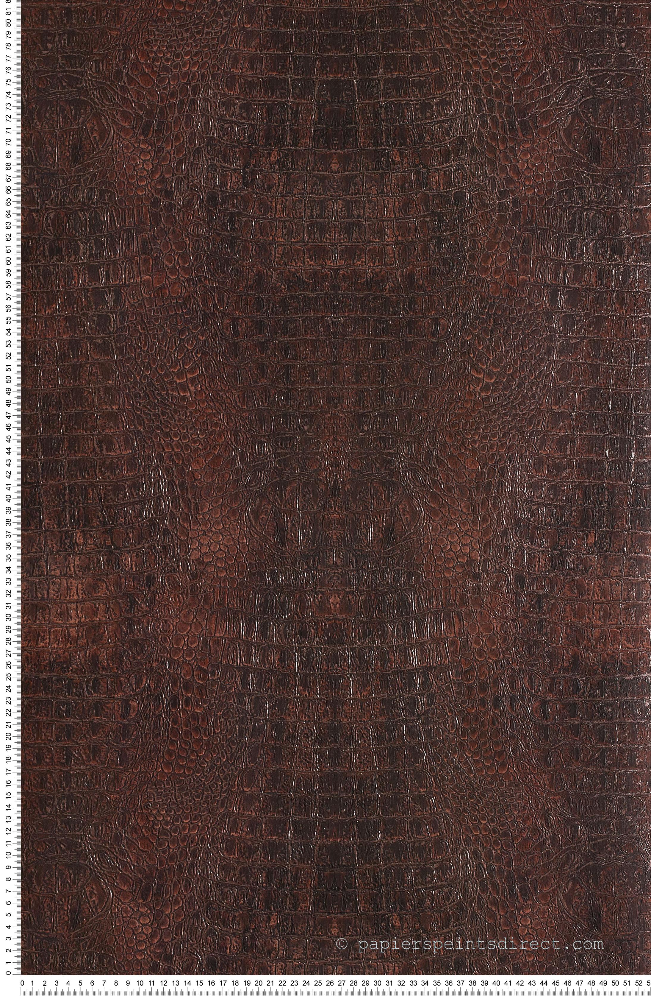 Frise Murale Damier Noir Et Blanc croco bordeaux - collection shaman de montécolino