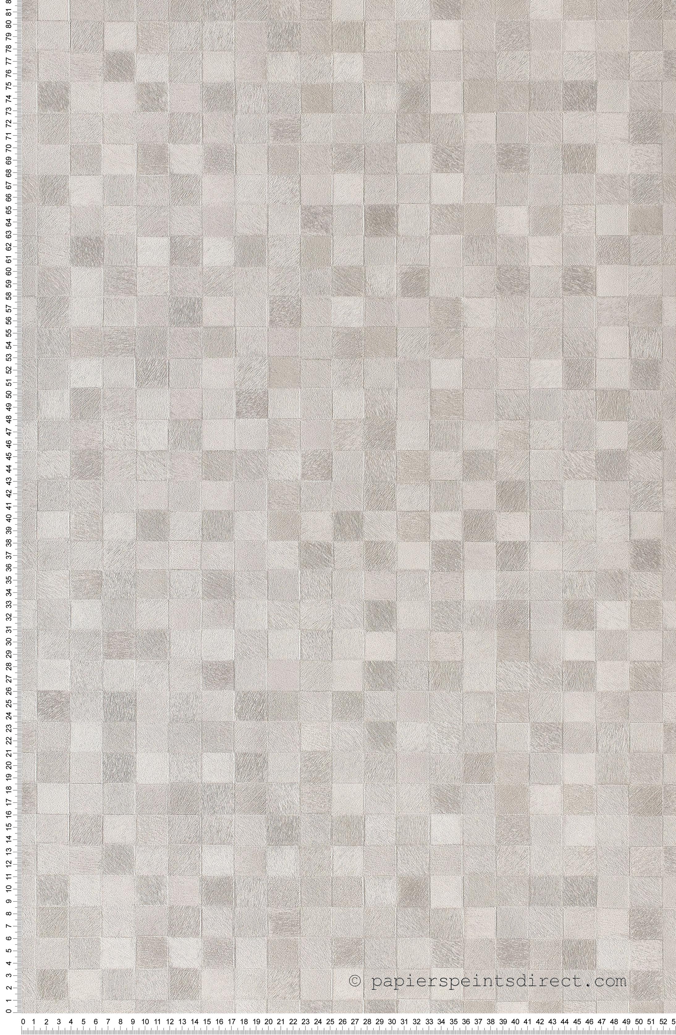 Frise Murale Damier Noir Et Blanc damier blanc et gris clair - collection shaman de montécolino