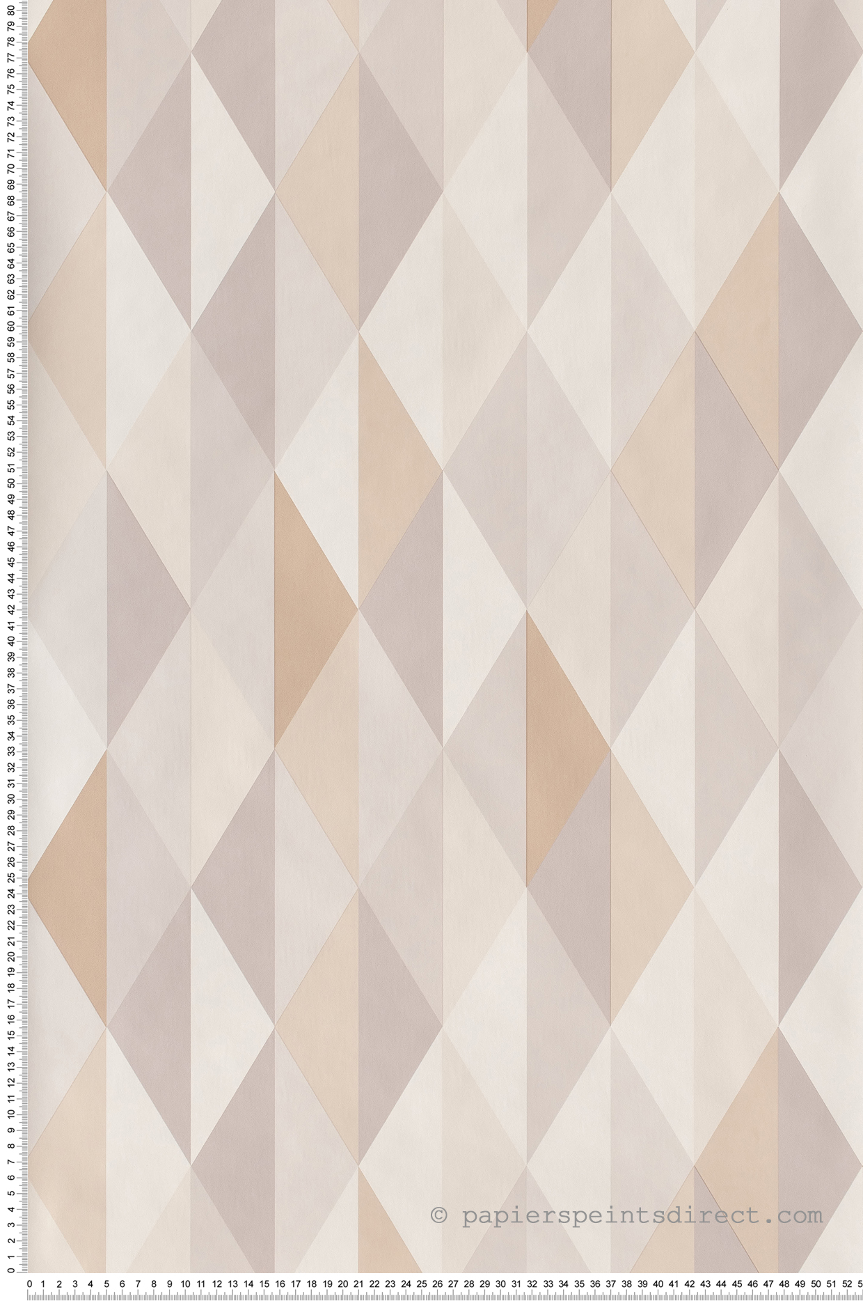 Papier peint Diamond gris beige - Spaces de Casélio | Réf. SPA100081015