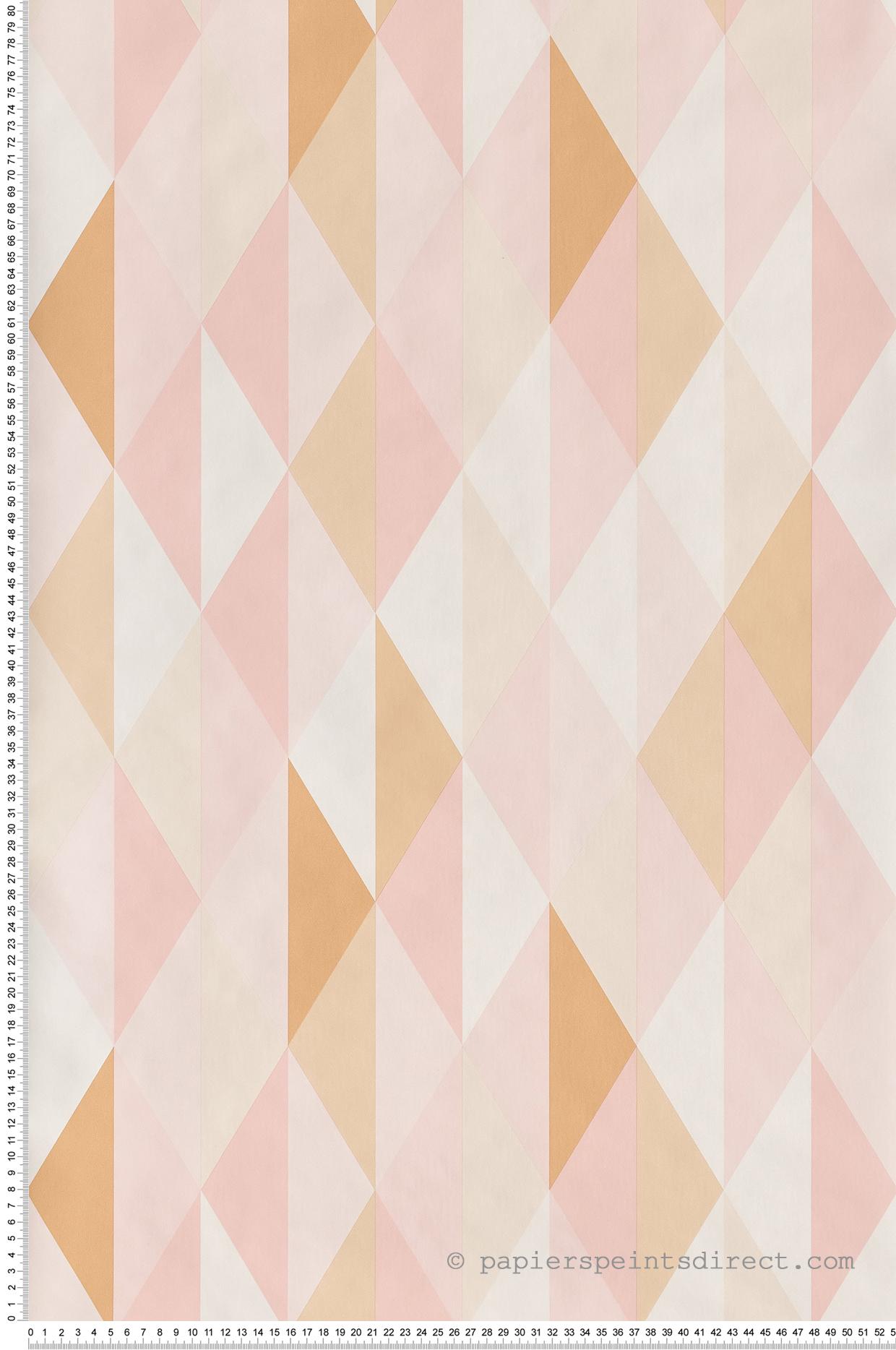 Papier peint Diamond orange rose - Spaces de Casélio | Réf. SPA100084239