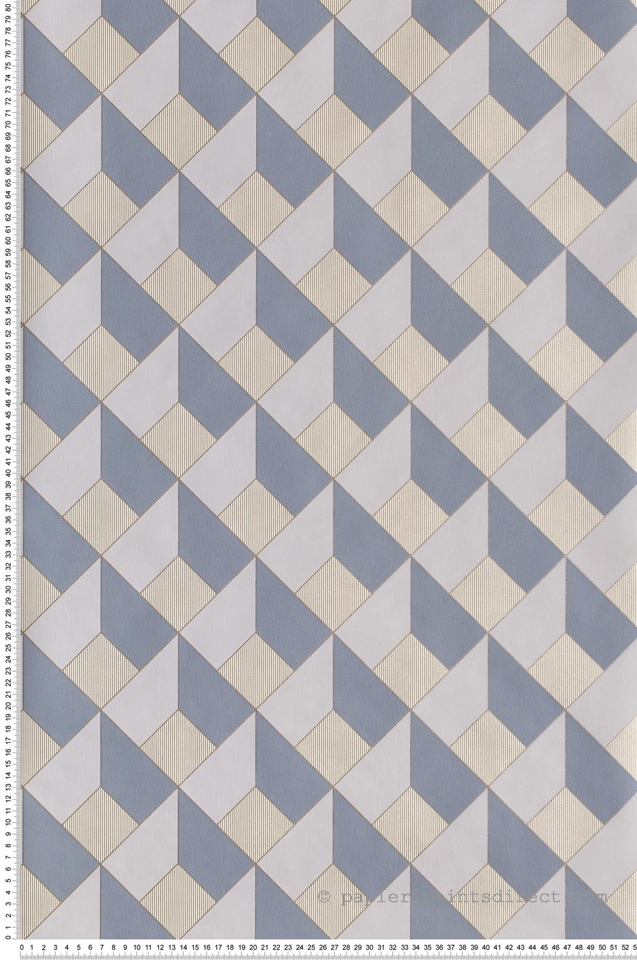 Papier peint Square bleu ardoise - Spaces de Casélio | Réf. SPA100129090