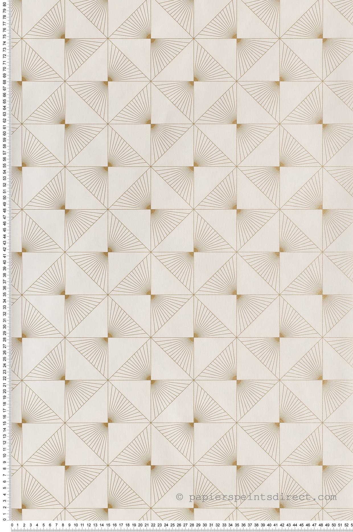 Papier peint Lines blanc or - Spaces de Casélio | Réf. SPA100130020