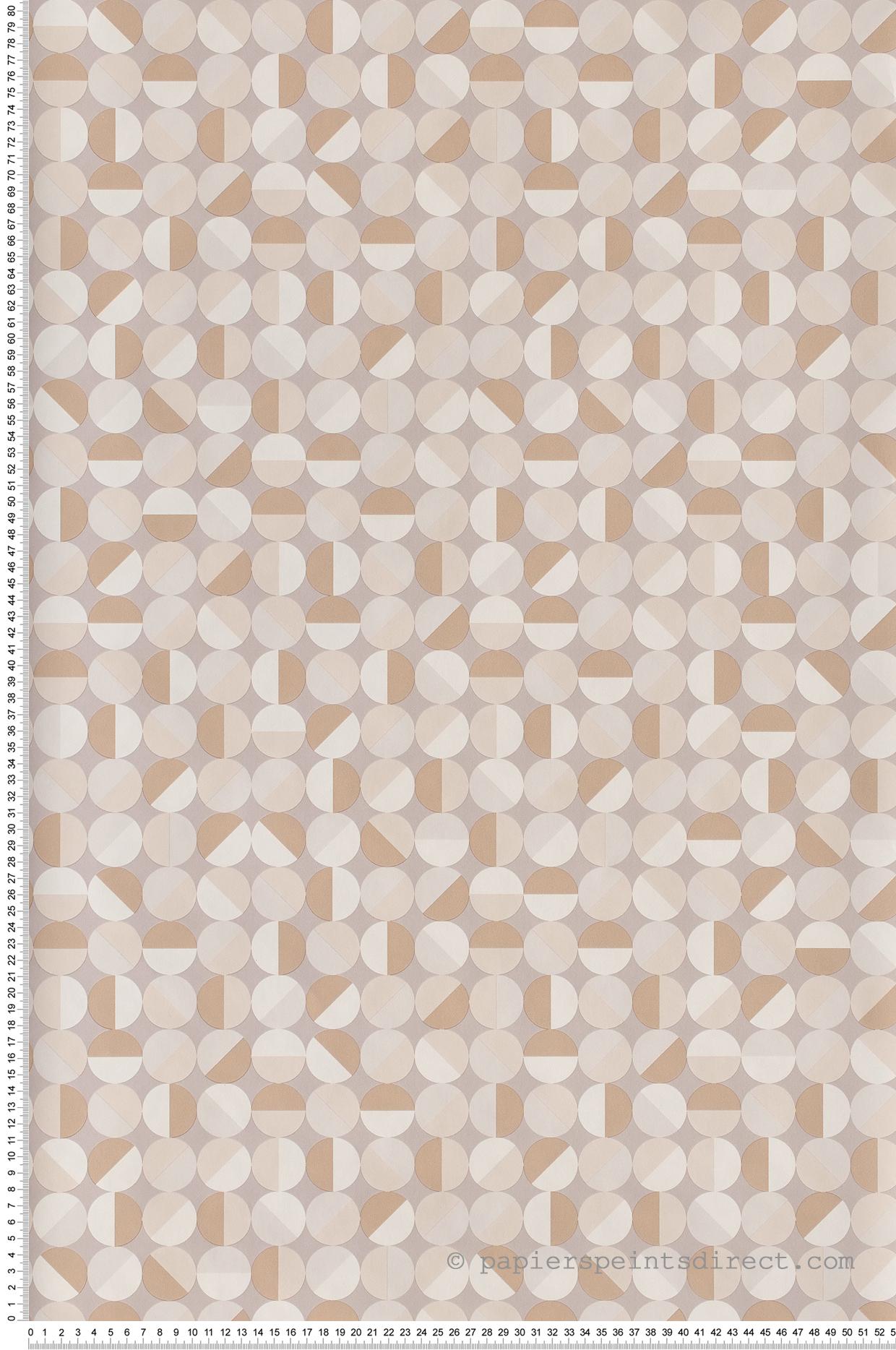 Papier peint Curves gris beige - Spaces de Casélio | Réf. SPA100141013