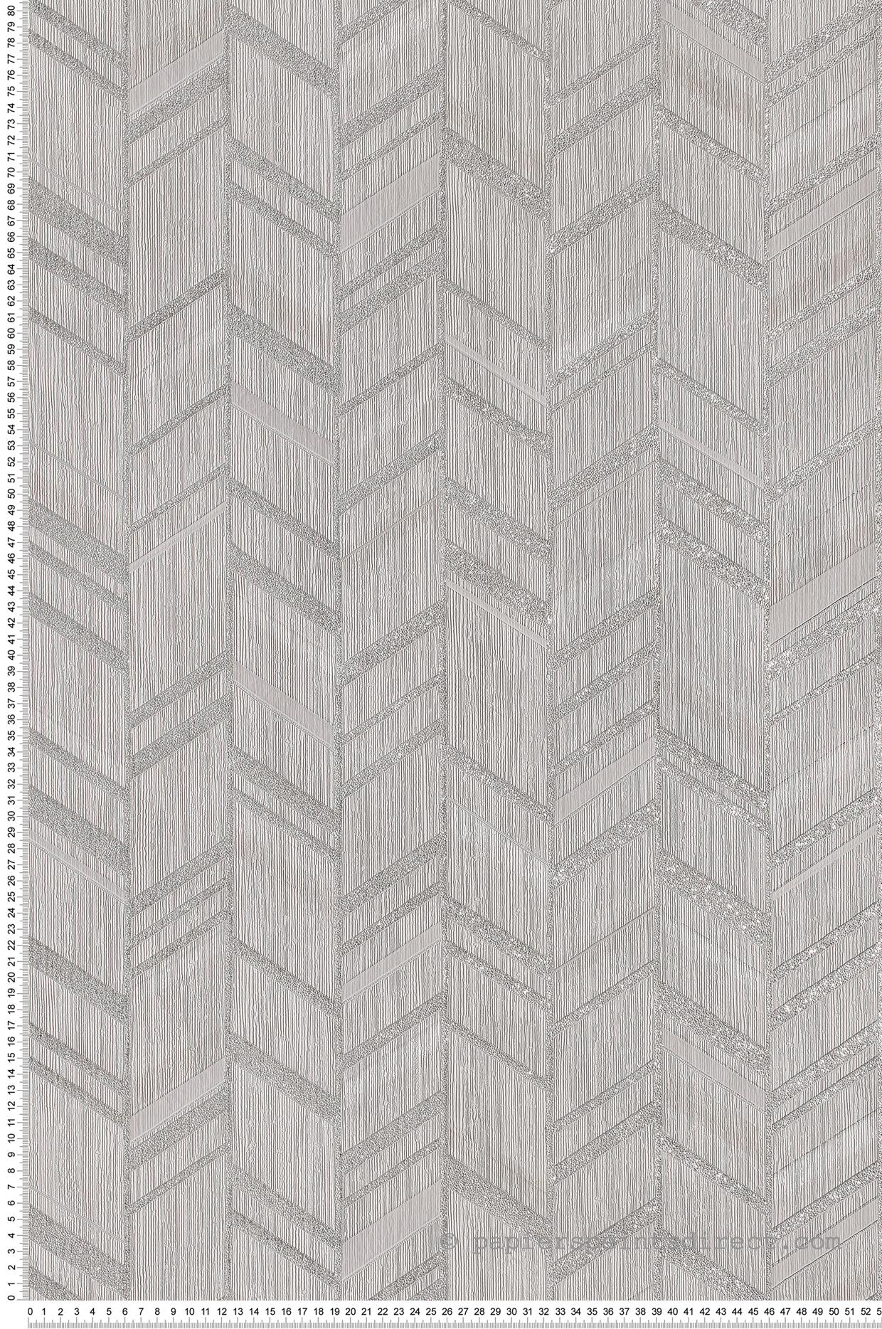 Peindre Couloir Gris Perle papier peint ethnique chic gris perle - special fx de lutèce