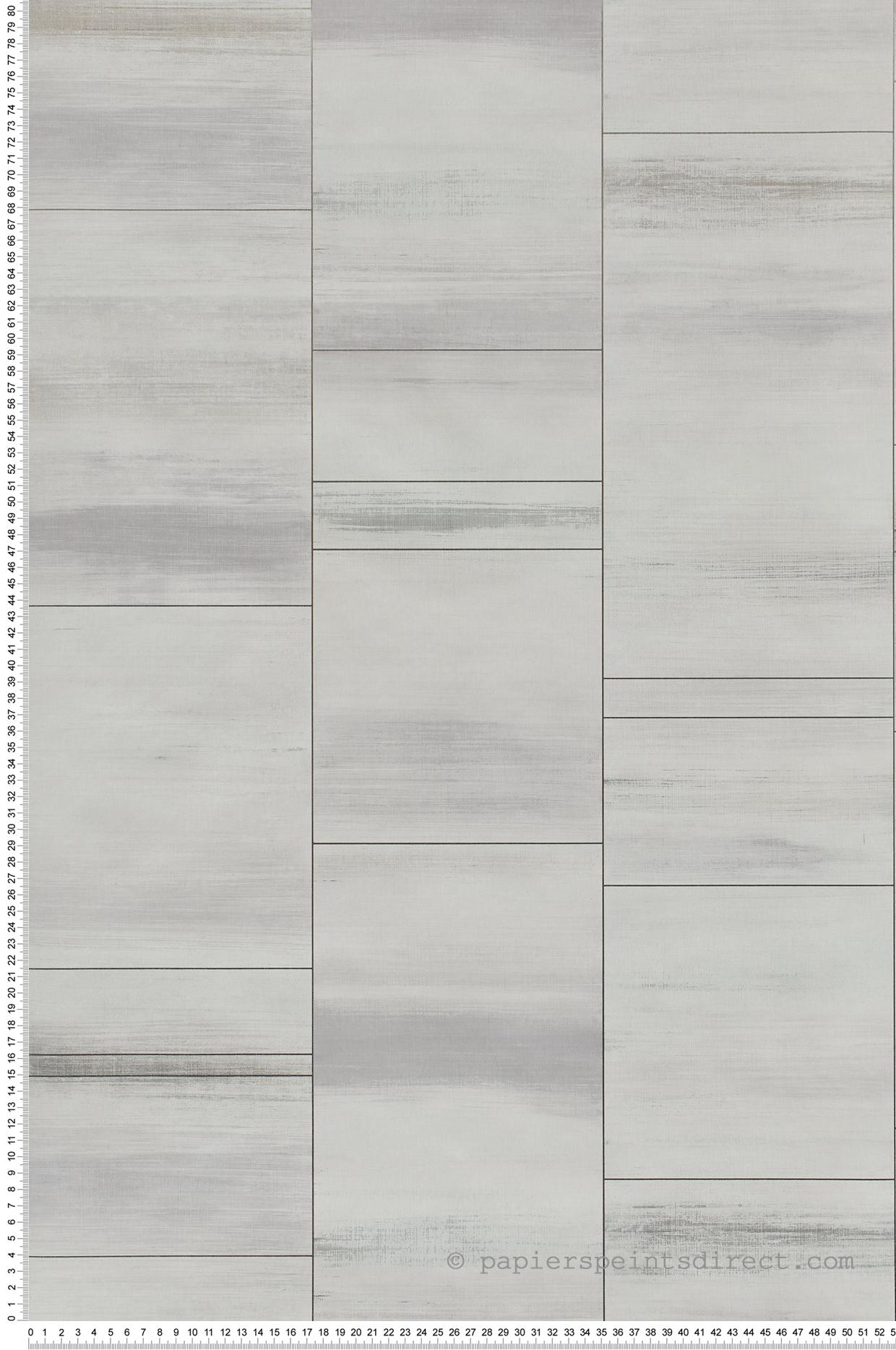 Peindre Couloir Gris Perle papier peint carrelage gris perle irisé - special fx de lutèce