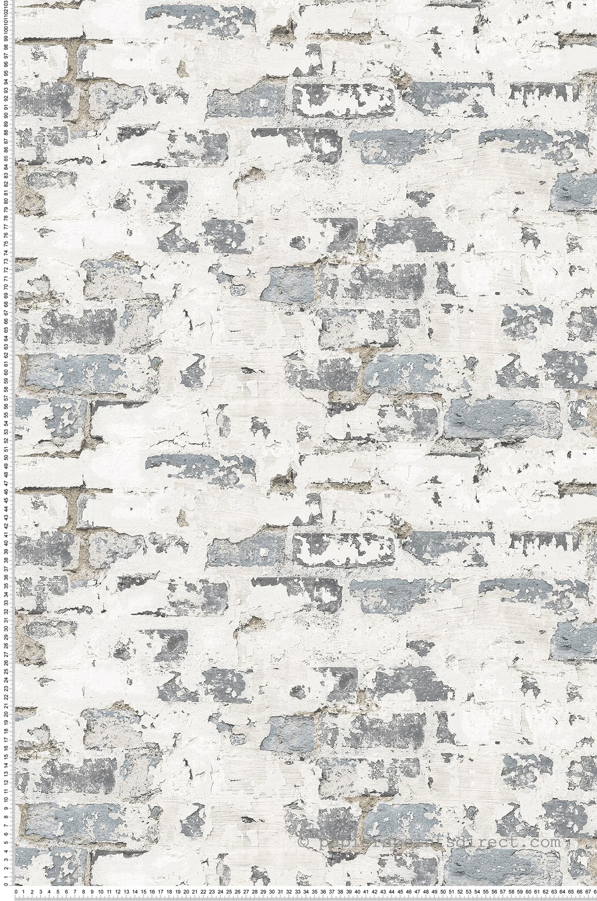 Papier Peint Vieux mur gris - Structure de Lutèce | Réf. LTC ...