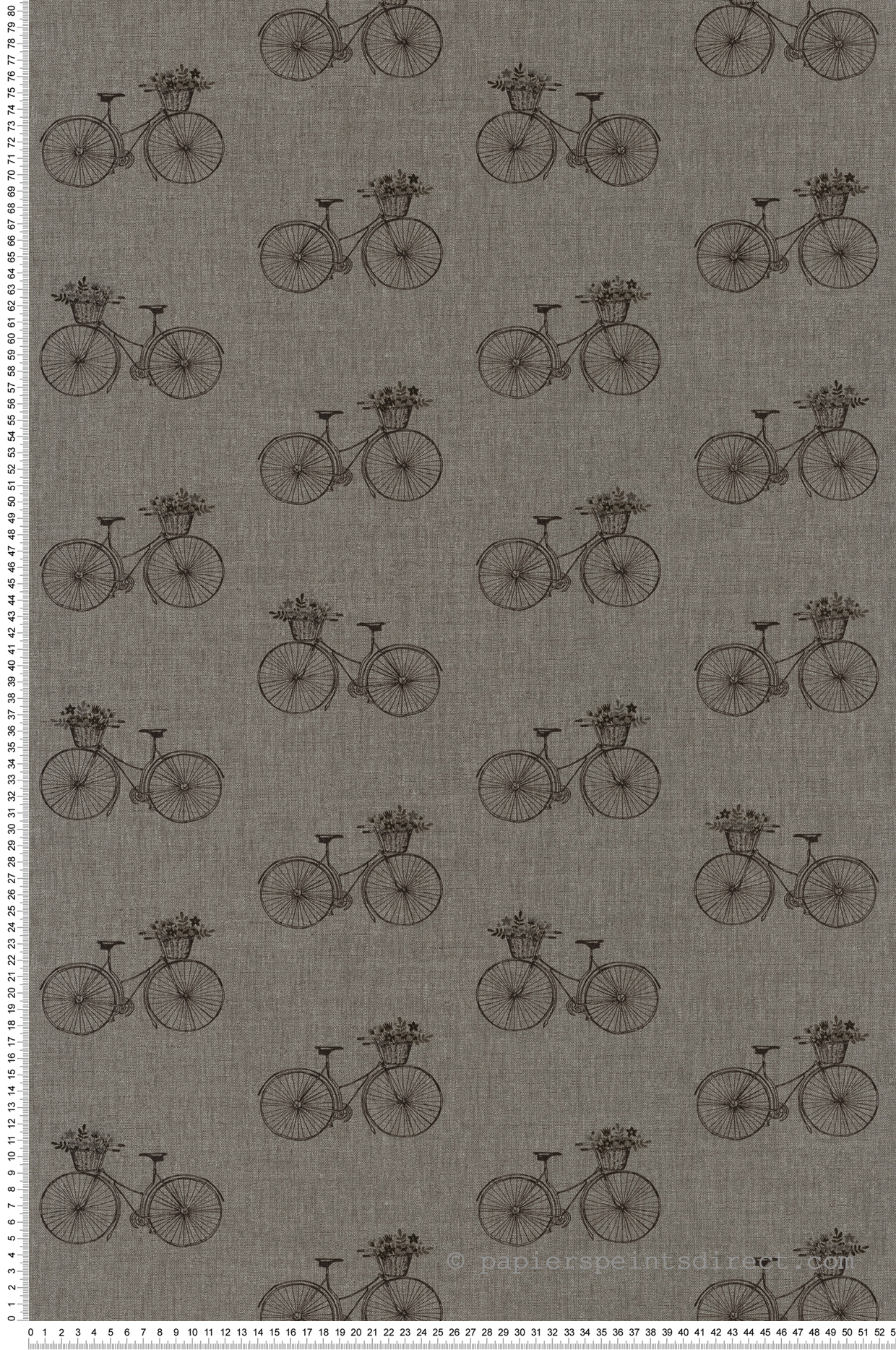 Papier peint Bicyclette fleurs gris noir - Sunny Day de Casélio | Réf. SNY100249099