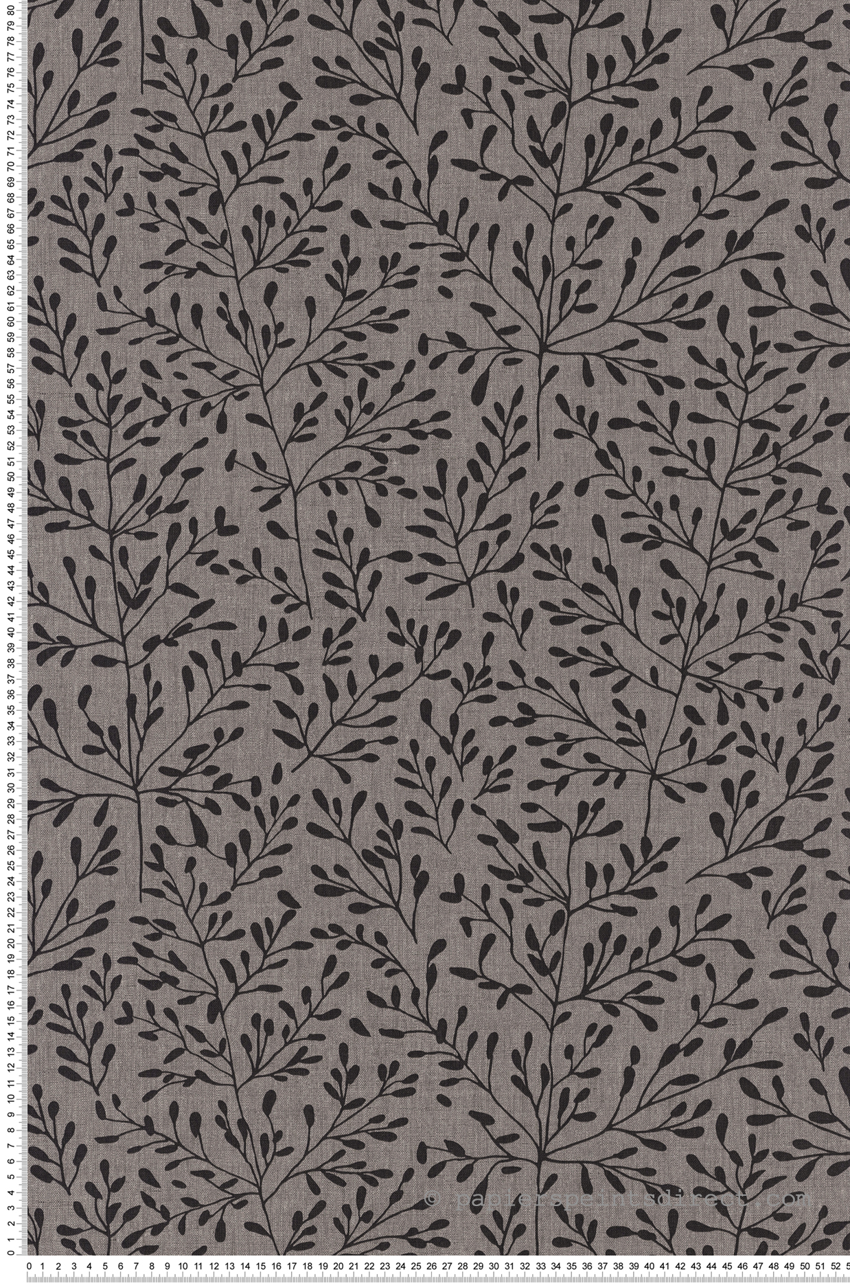 Papier Peint Motif Nature papier peint nature branche lucy gris noir - sunny day de