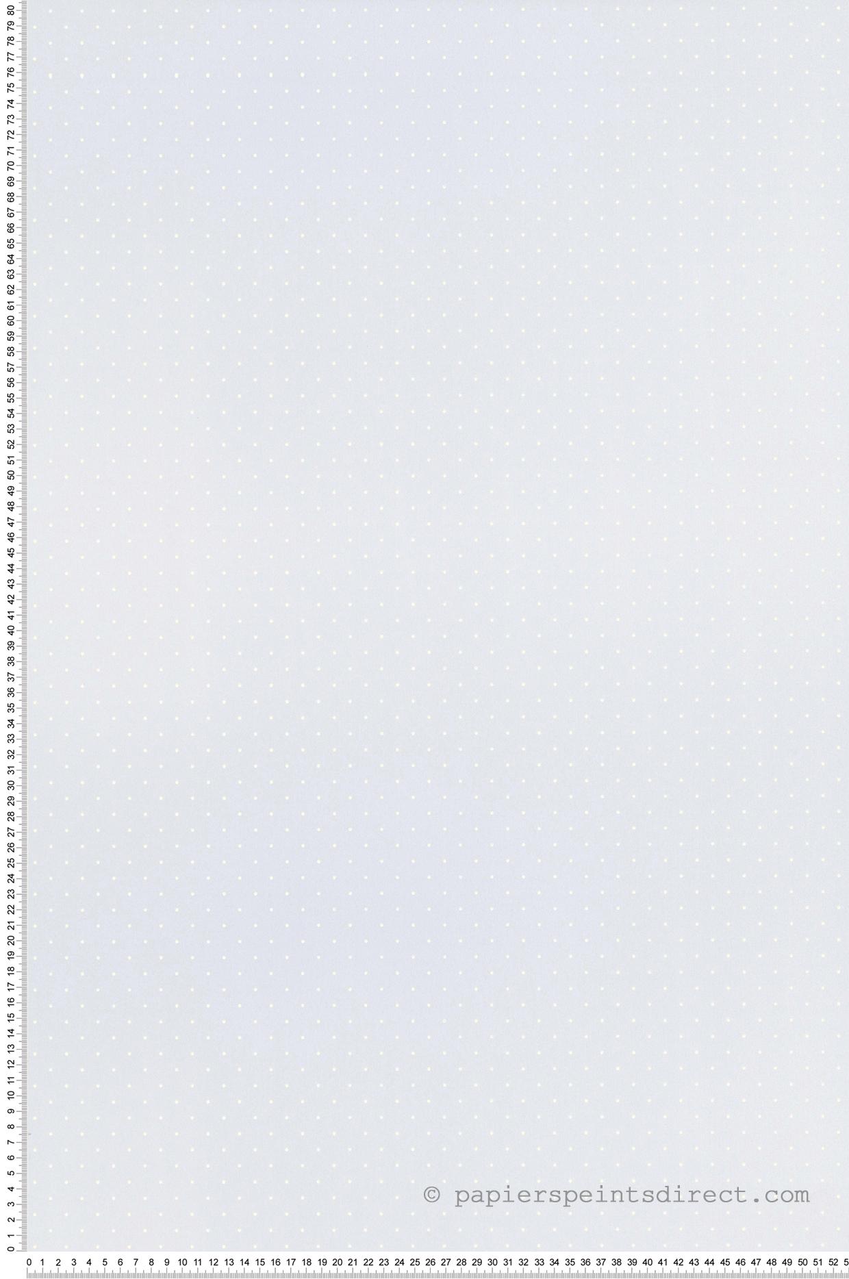 Papier Peint Pois blanc sur bleu - Tartine et Chocolat de Lutèce  | Réf. LTC-13054611