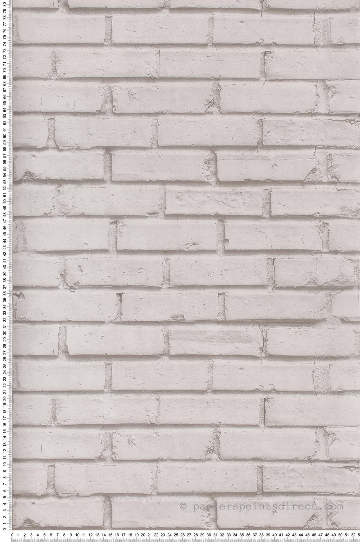 Mur Effet Brique Blanche papier peint mur de briques blancs - teenage street de