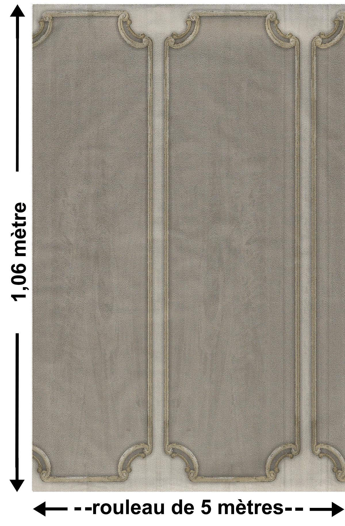 Soubassement Couloir En Bois papier peint soubassement bois gris - the country house de