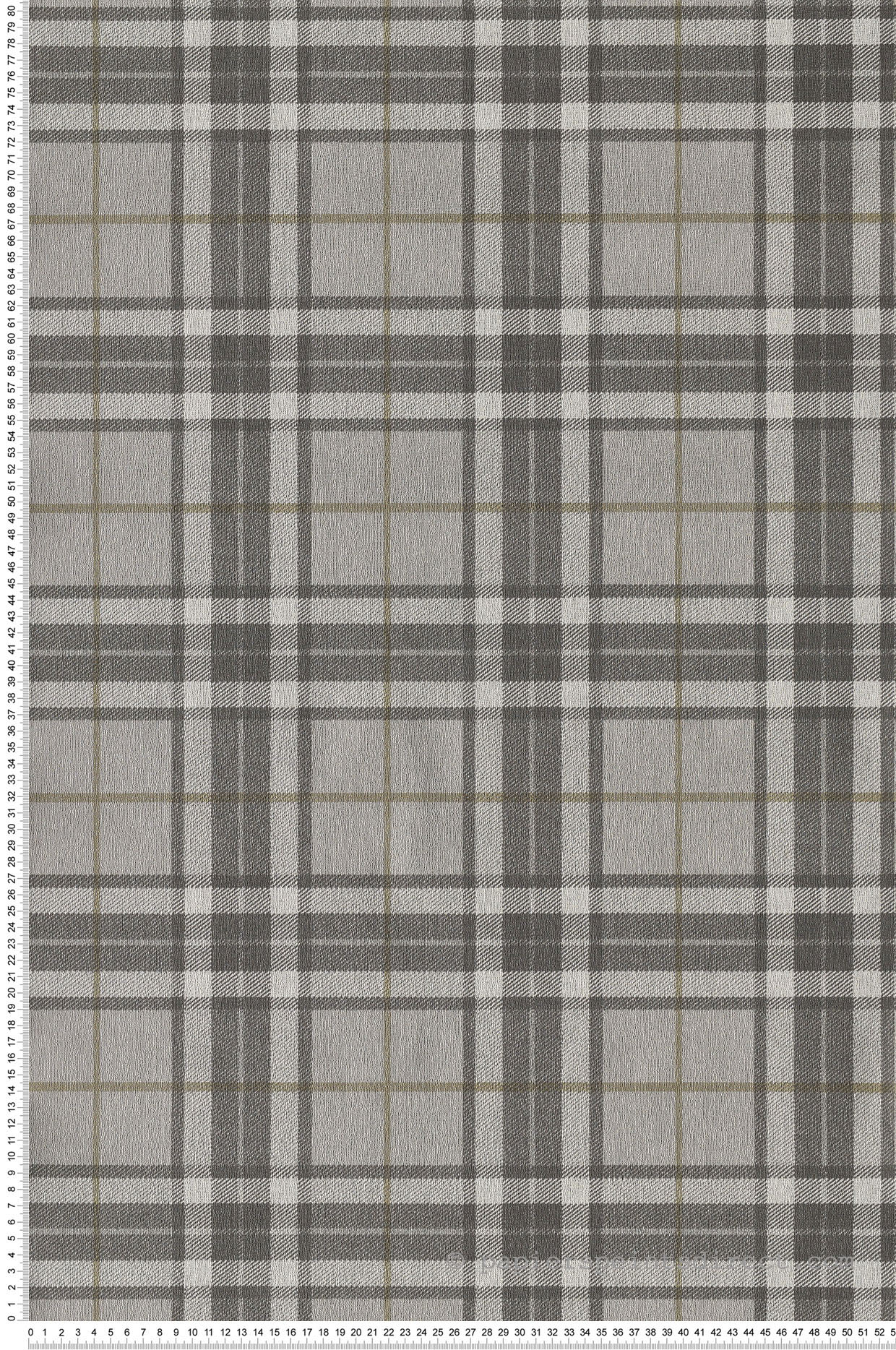 Papier peint Tartan charme gris - The Country House de Montecolino | Réf. MC-7865