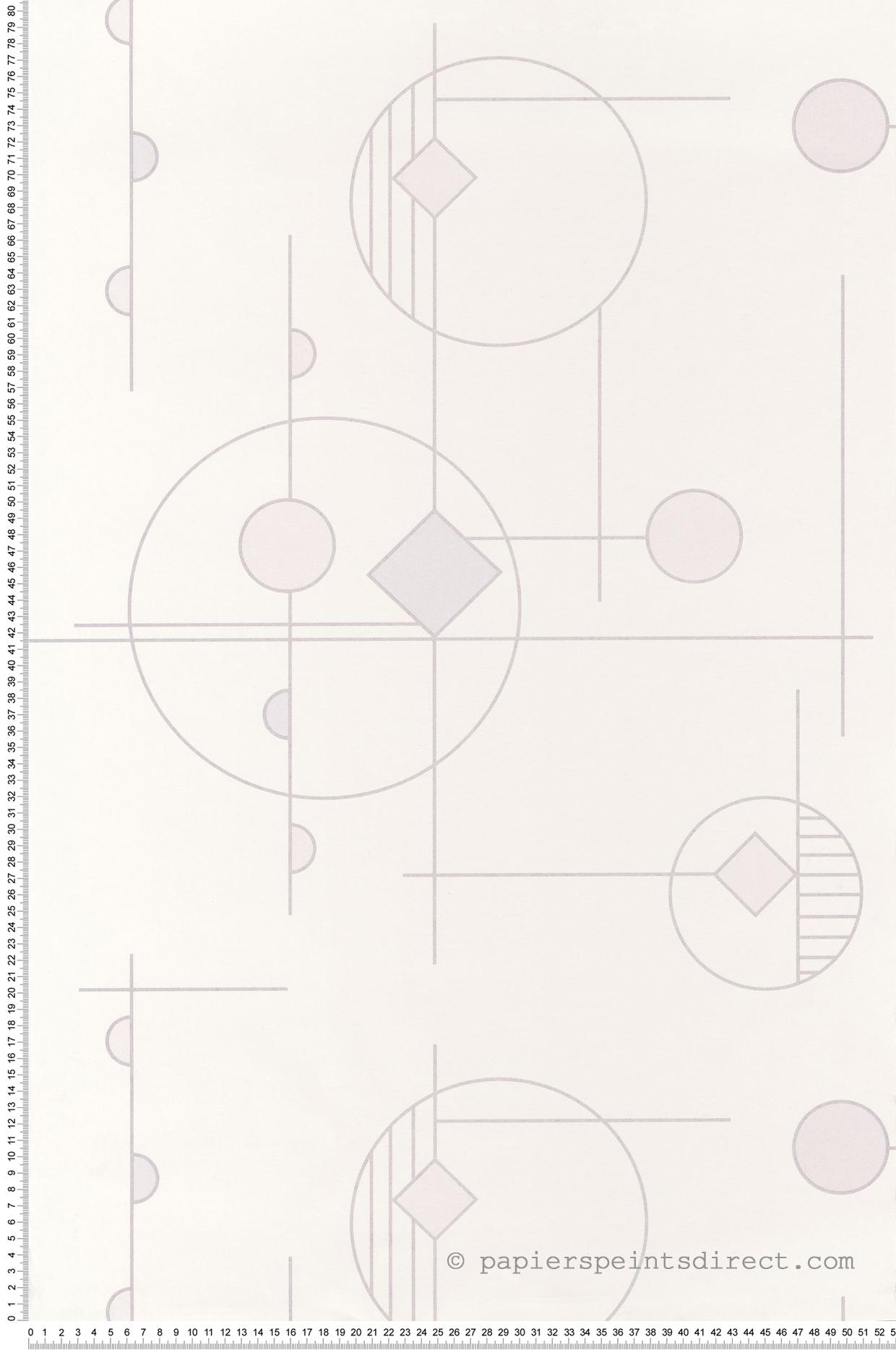 Papier peint géométrique Mobile blanc - Vision de Casadéco | Réf. VISI83660106