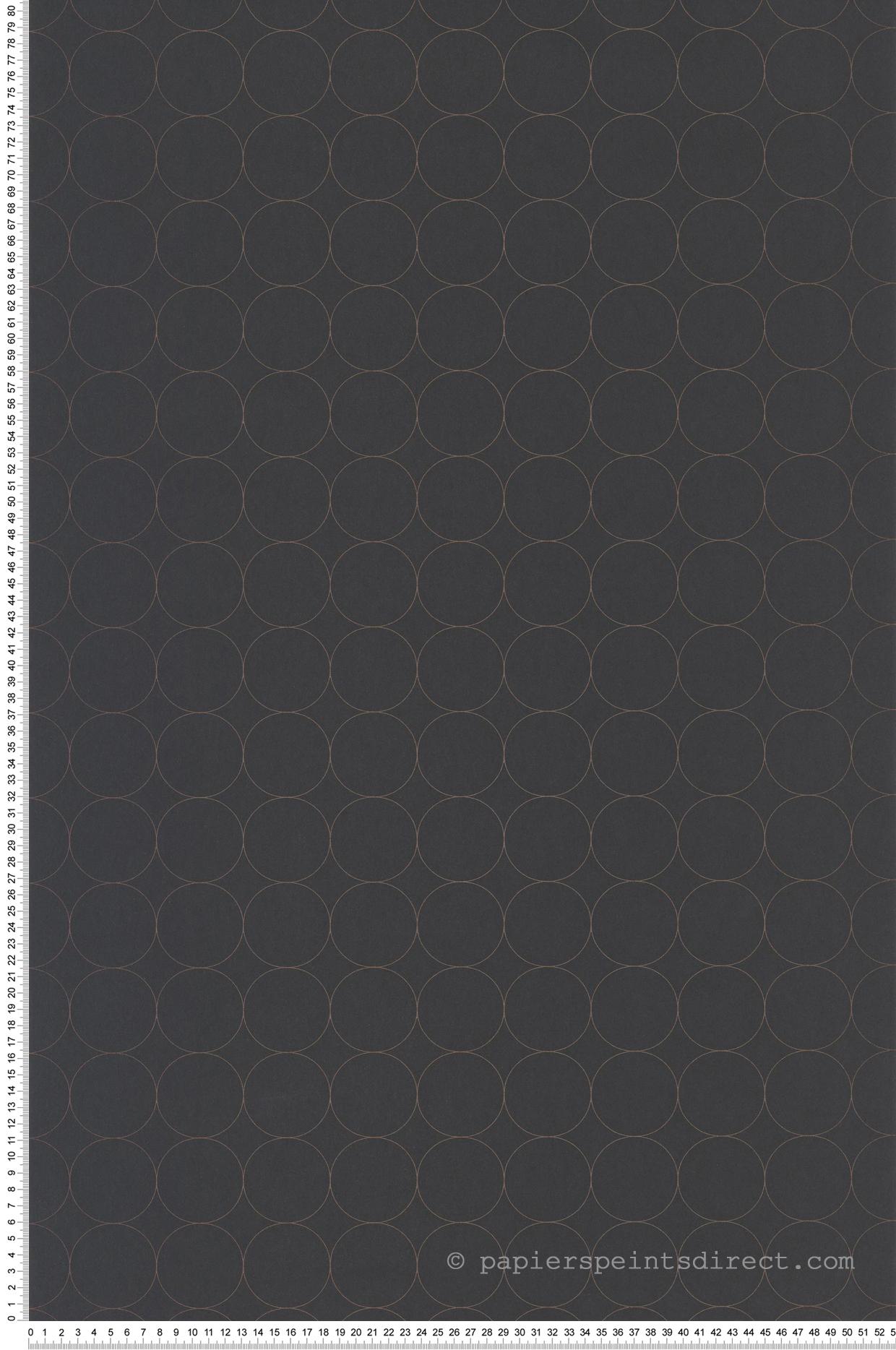 Papier peint scandinave Disques noir - Vision de Casadéco   Réf. VISI83689505
