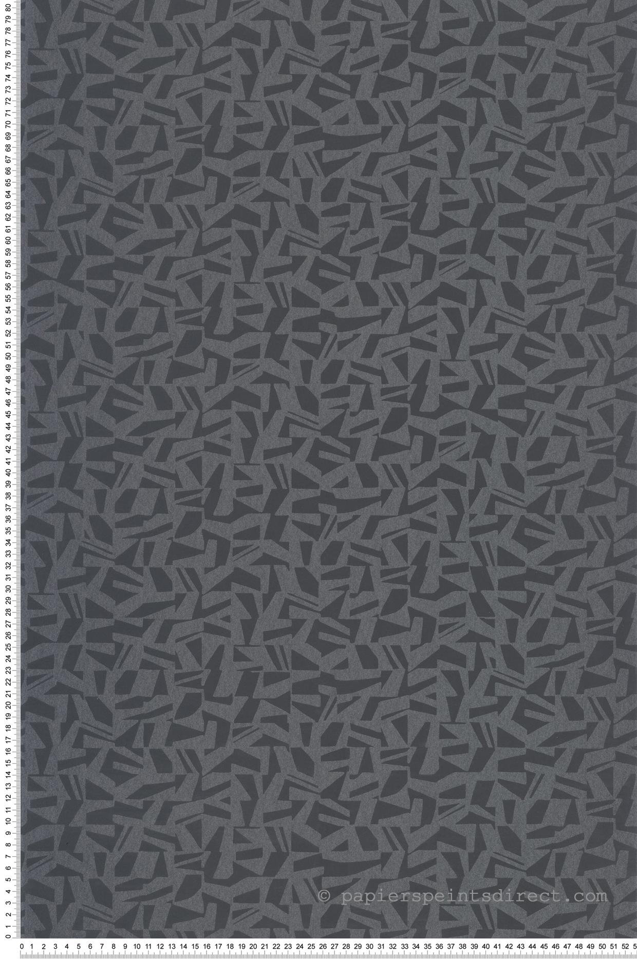 Papier peint contemporain Polygone noir - Vision de Casadéco | Réf. VISI83739512