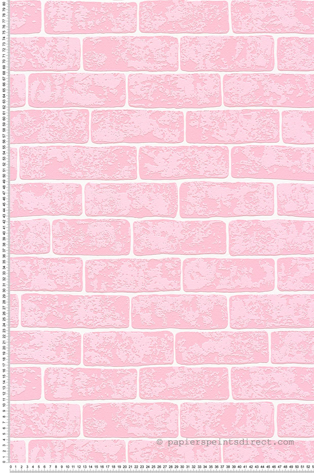 Chambre Ado Avec Papier Peint Brique papier peint briques roses - wood n stone 2 d'as création