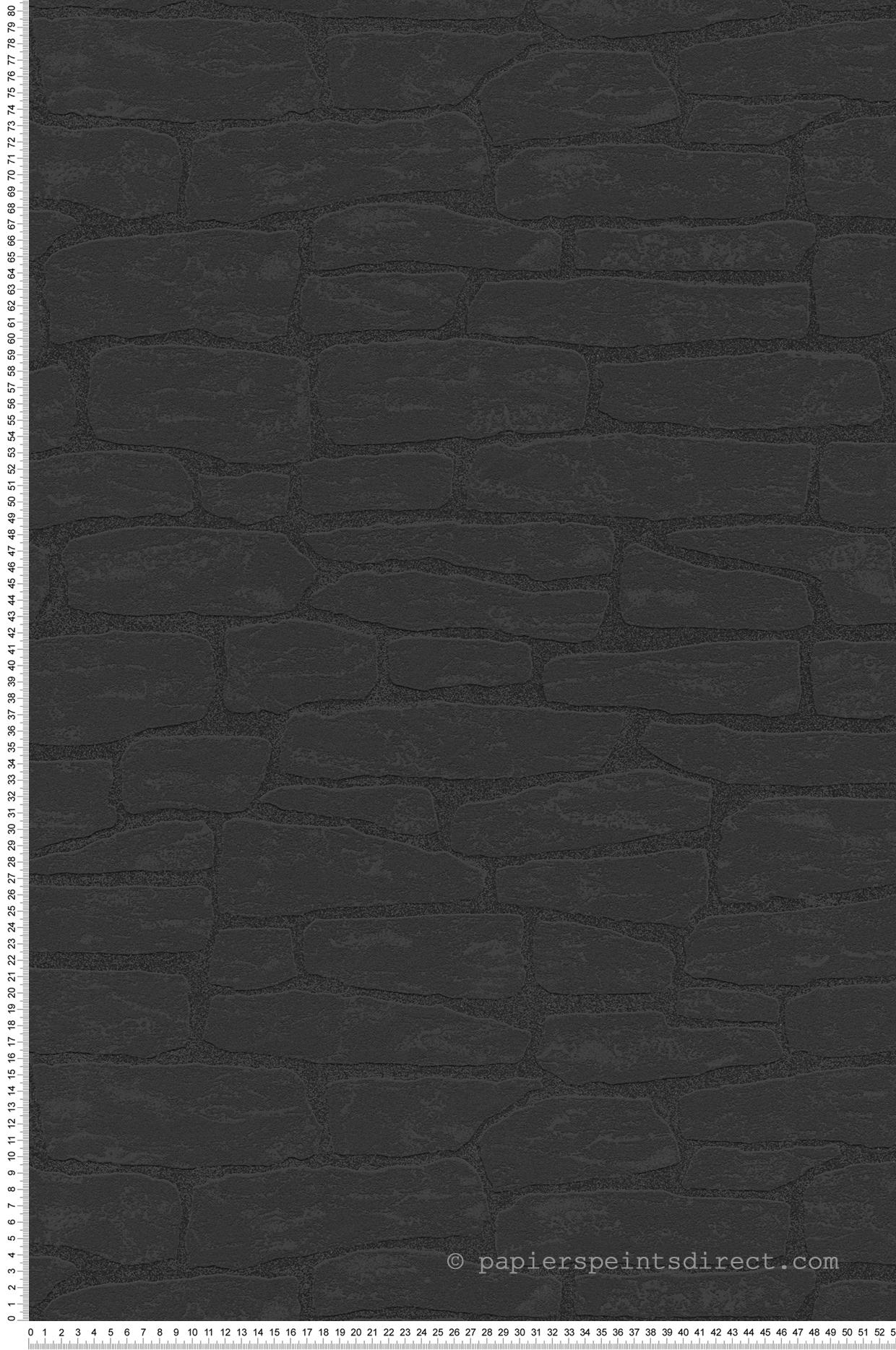 Papier Peint Effet Mur Brique Noir Wood N Stone 2 D As Creation