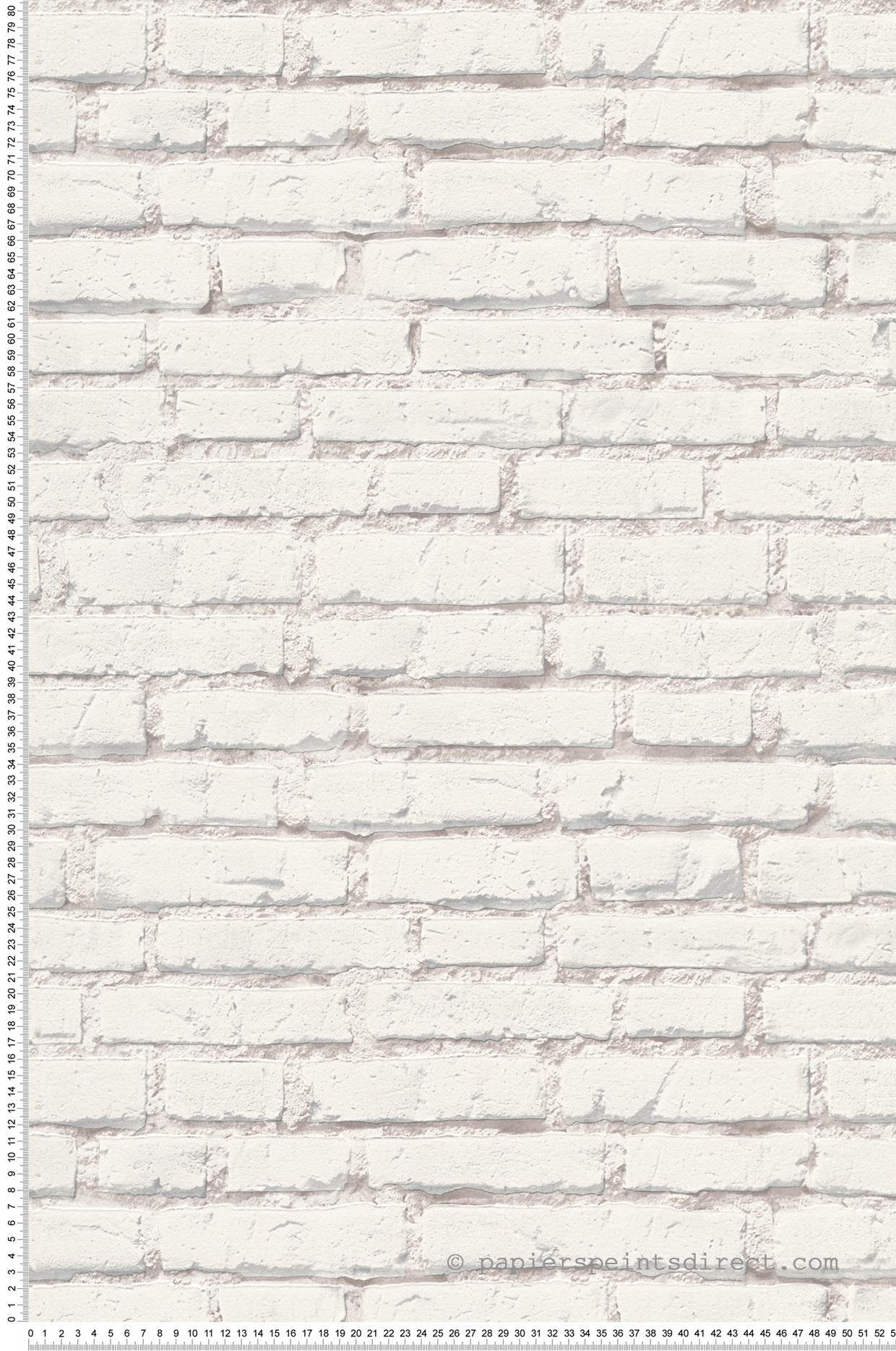 Mur Effet Brique Blanche papier peint mur briques blanches - wood n stone 2 d'as création