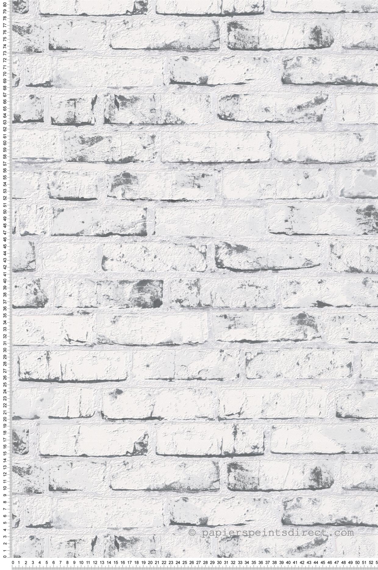 Chambre Ado Avec Papier Peint Brique papier peint briques blanches et grises - wood n stone 2 d
