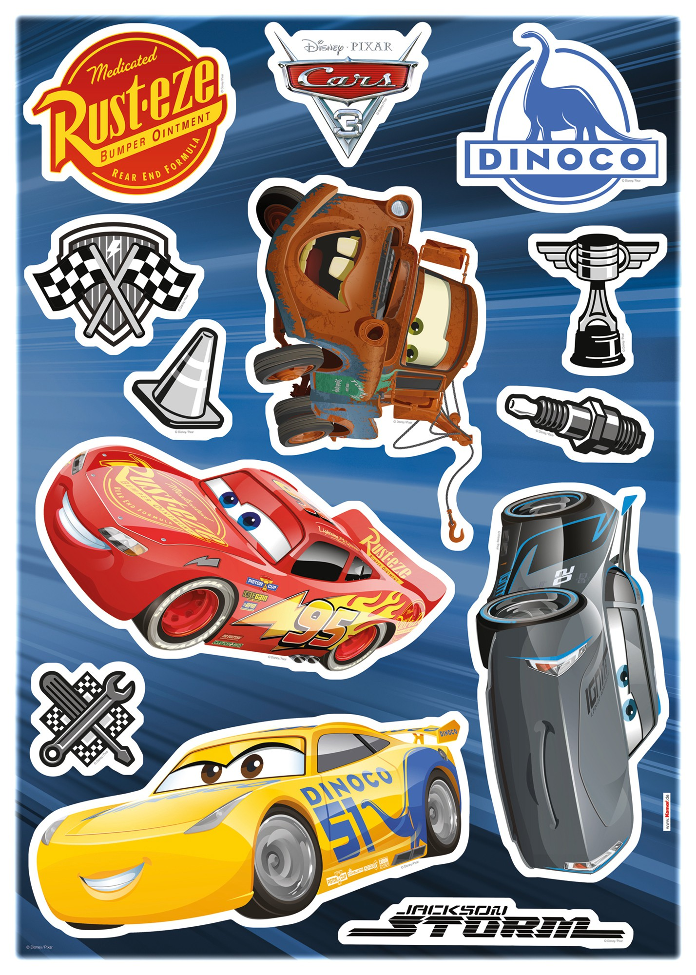 Sticker Cars 3 - Stickers de Komar