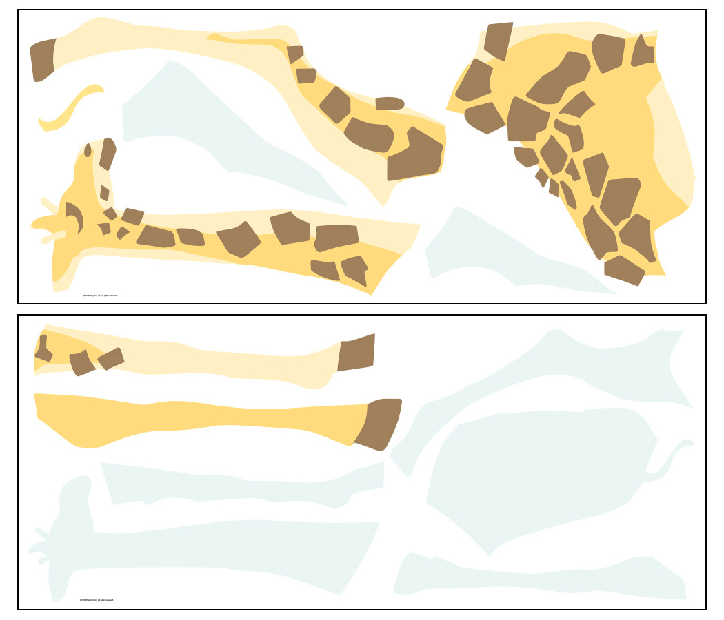 Stickers girafe - Collection Dwell Studio de York by Initiales