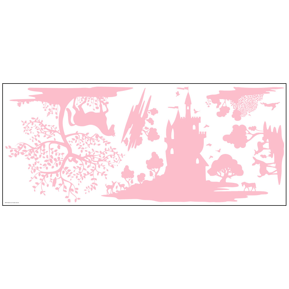 Stickers princesse chateau - Collection Dwell Studio de York by Initiales