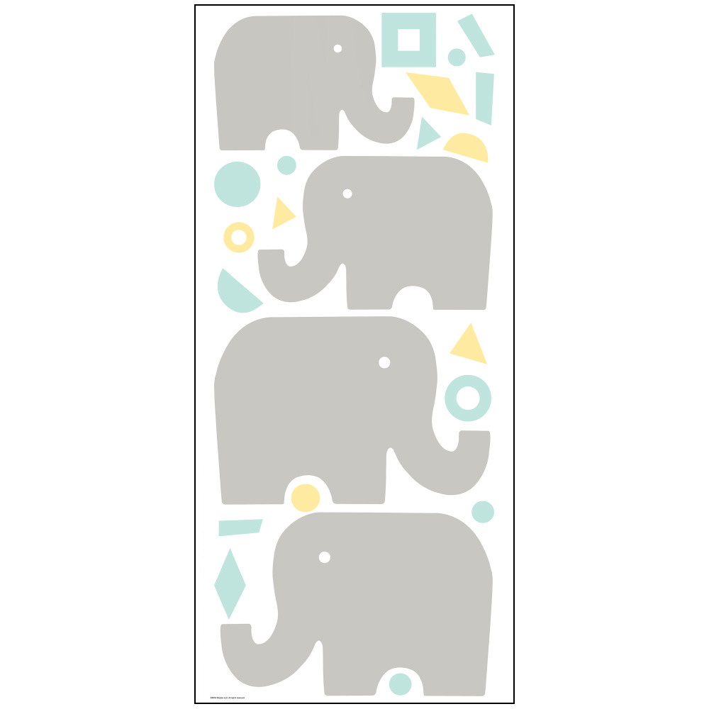 Stickers éléphants - Collection Dwell Studio de York by Initiales