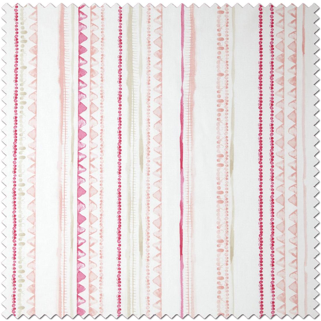 Tissu rayures aquarellées rose - Tissu Ohlala de Casélio