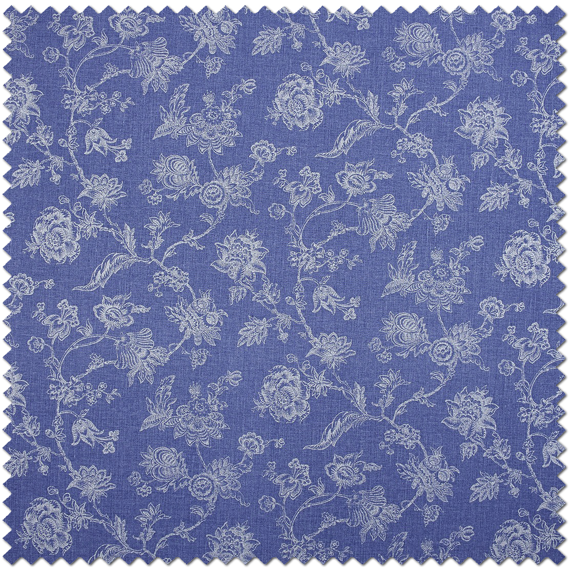 Tissu Indienne bleu - Collection Chantilly de Casadéco